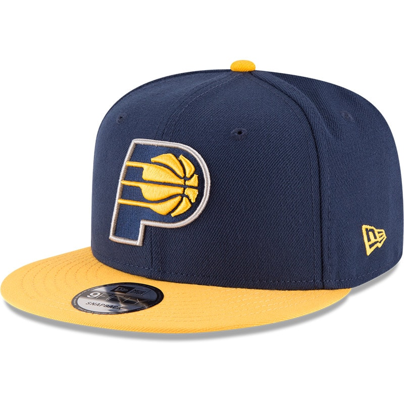 Indiana Pacers New Era 2-Tone Original Fit 9FIFTY Adjustable Snapback Hat - Navy/Gold