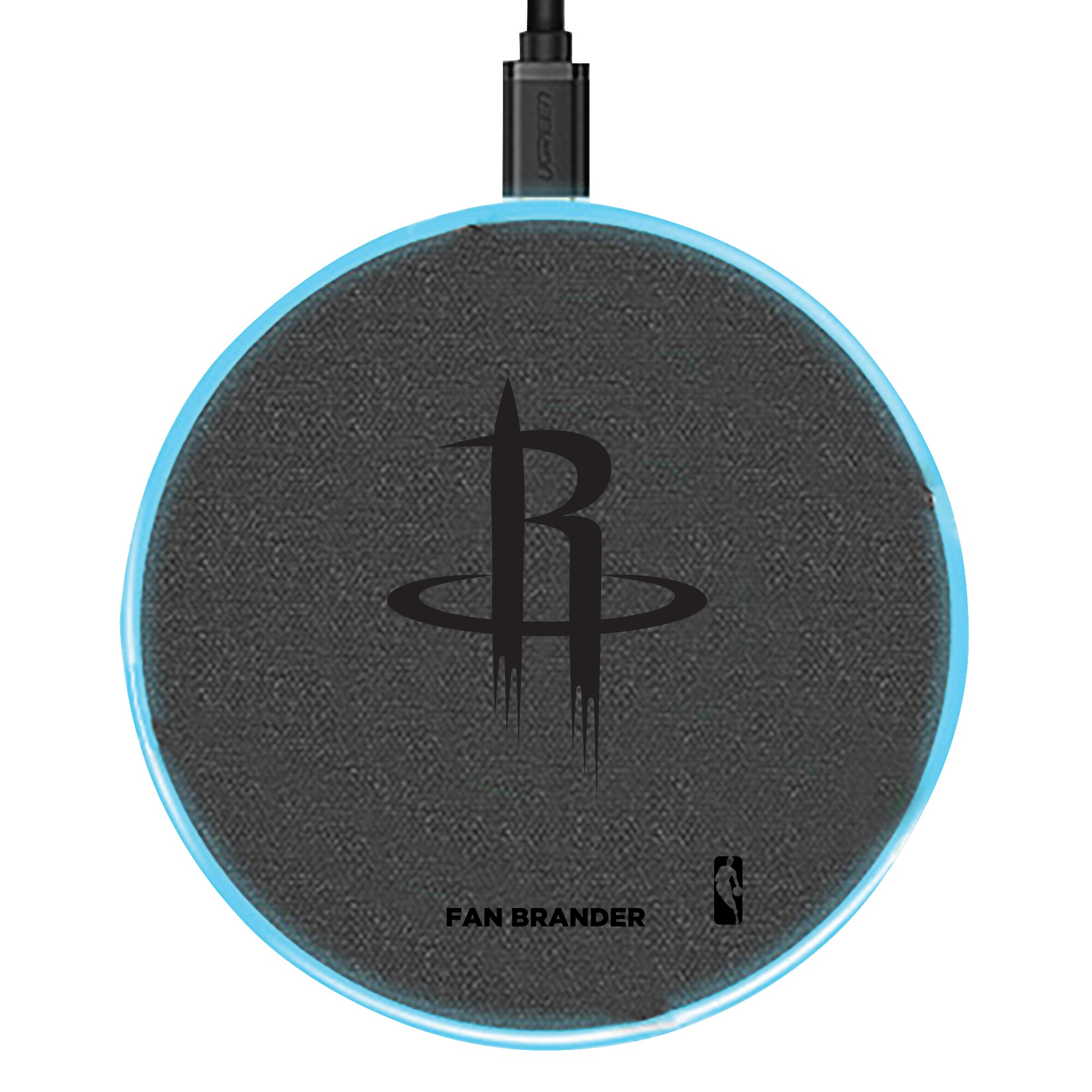 Houston Rockets 15W Laser Etched Wireless Charging Base - Gray