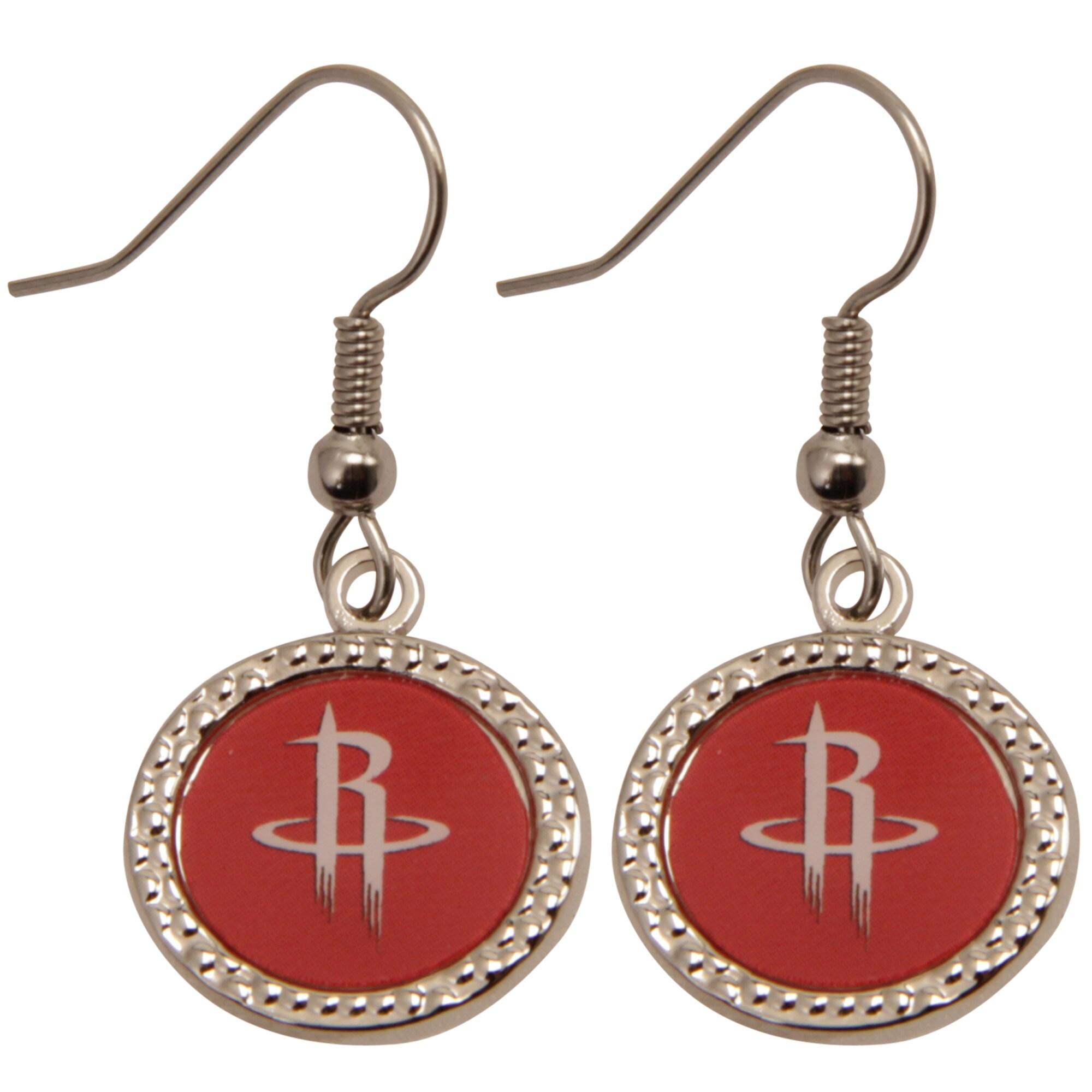 Houston Rockets WinCraft Women's Round Dangle Earrings