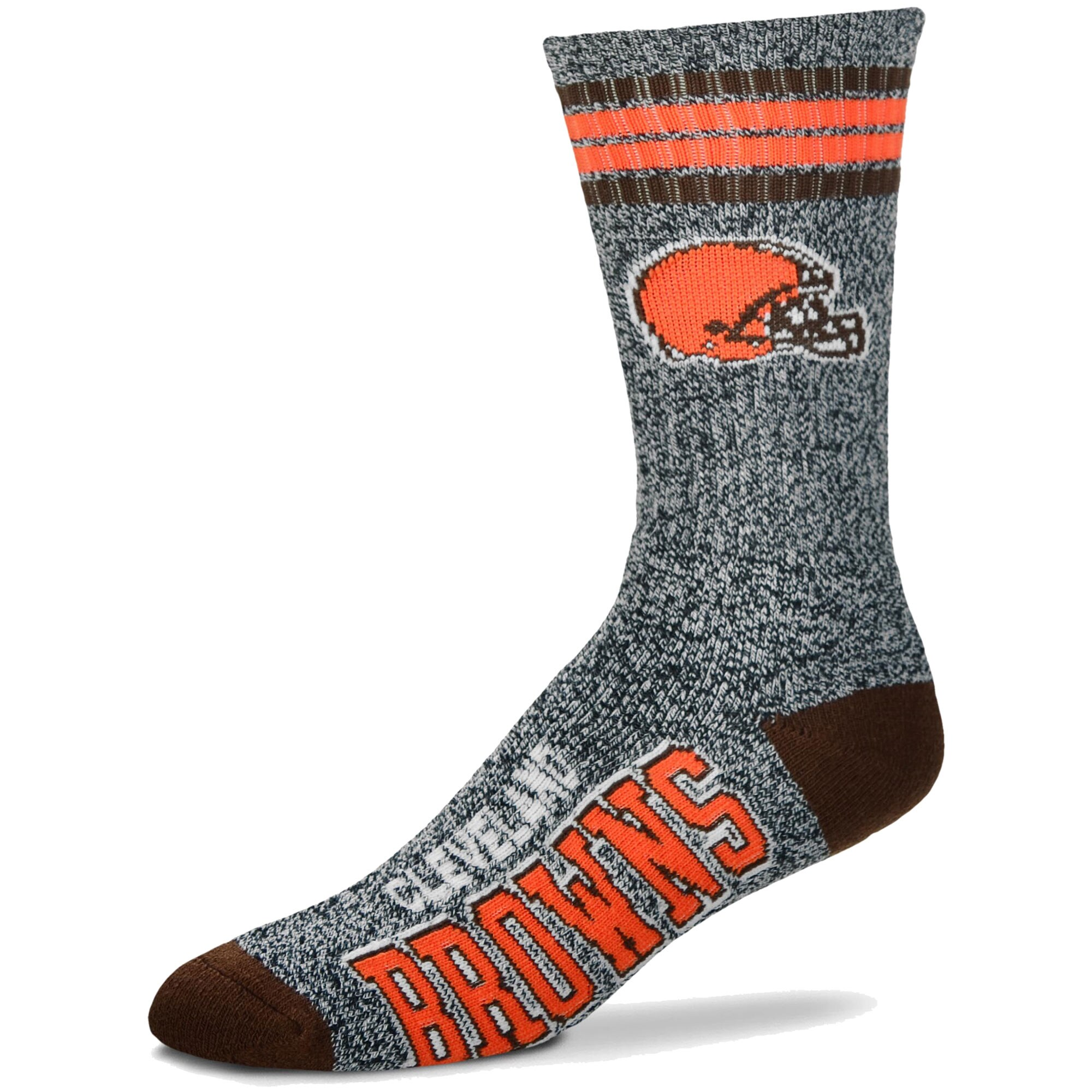 Cleveland Browns For Bare Feet Got Marble Crew Socks - Gray