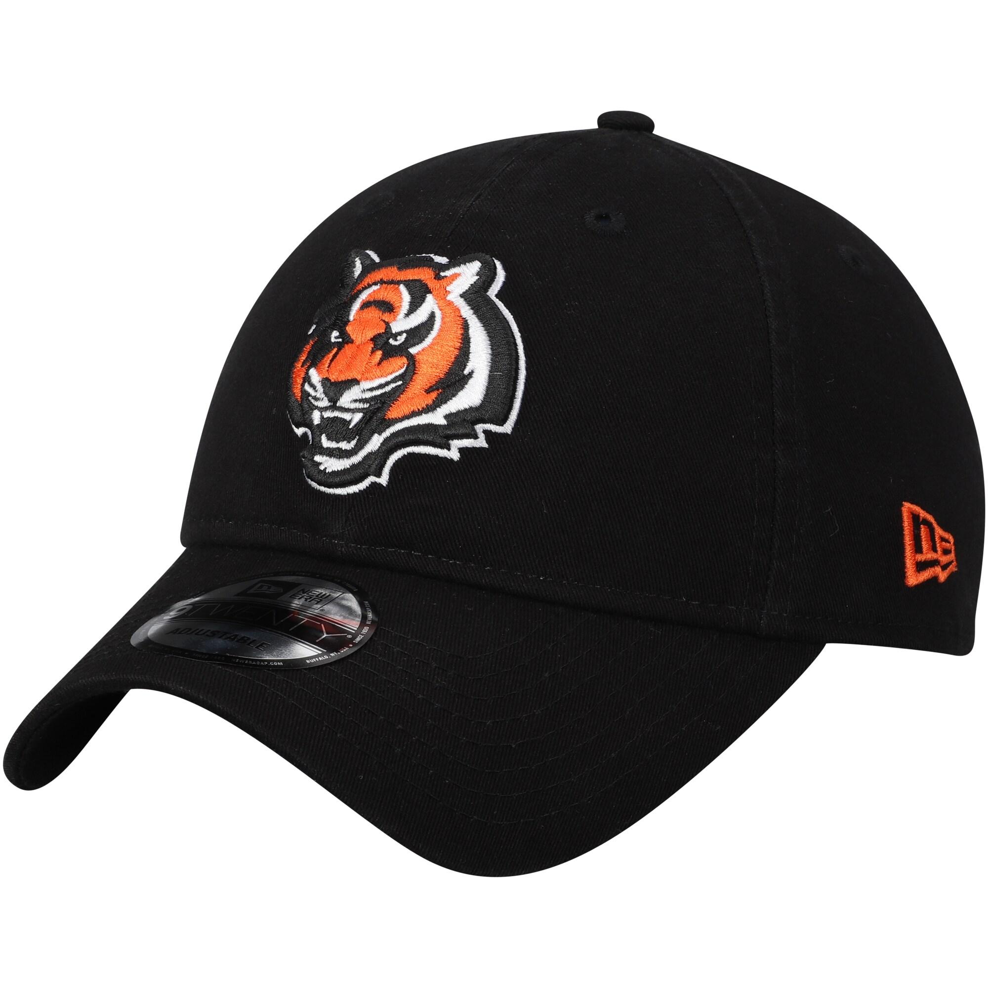 Cincinnati Bengals New Era Core Classic Secondary Logo 9TWENTY Adjustable Hat - Black