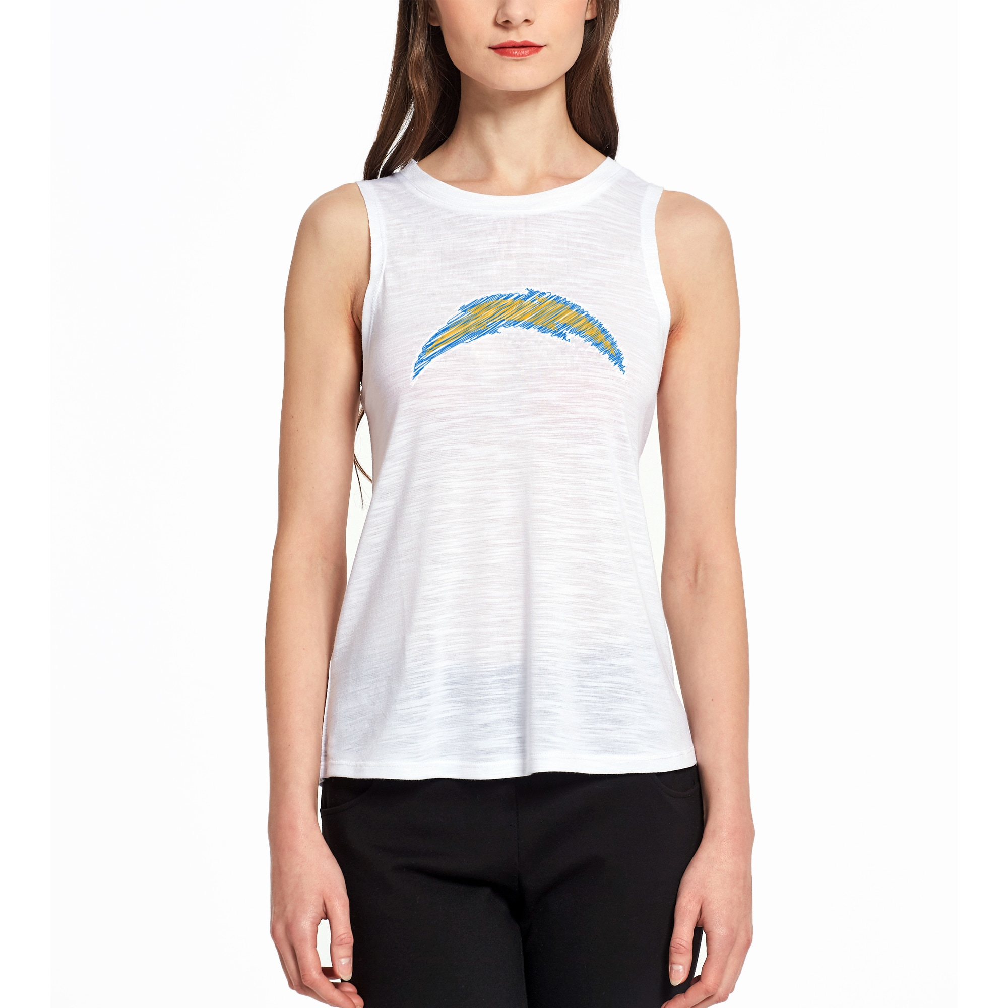 Los Angeles Chargers Concepts Sport Women's Infuse Knit Tank Top - White