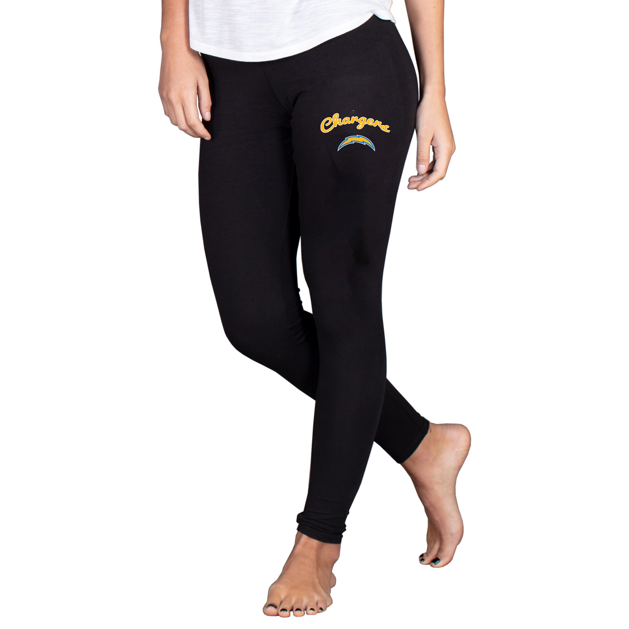 Los Angeles Chargers Concepts Sport Women's Fraction Leggings - Black