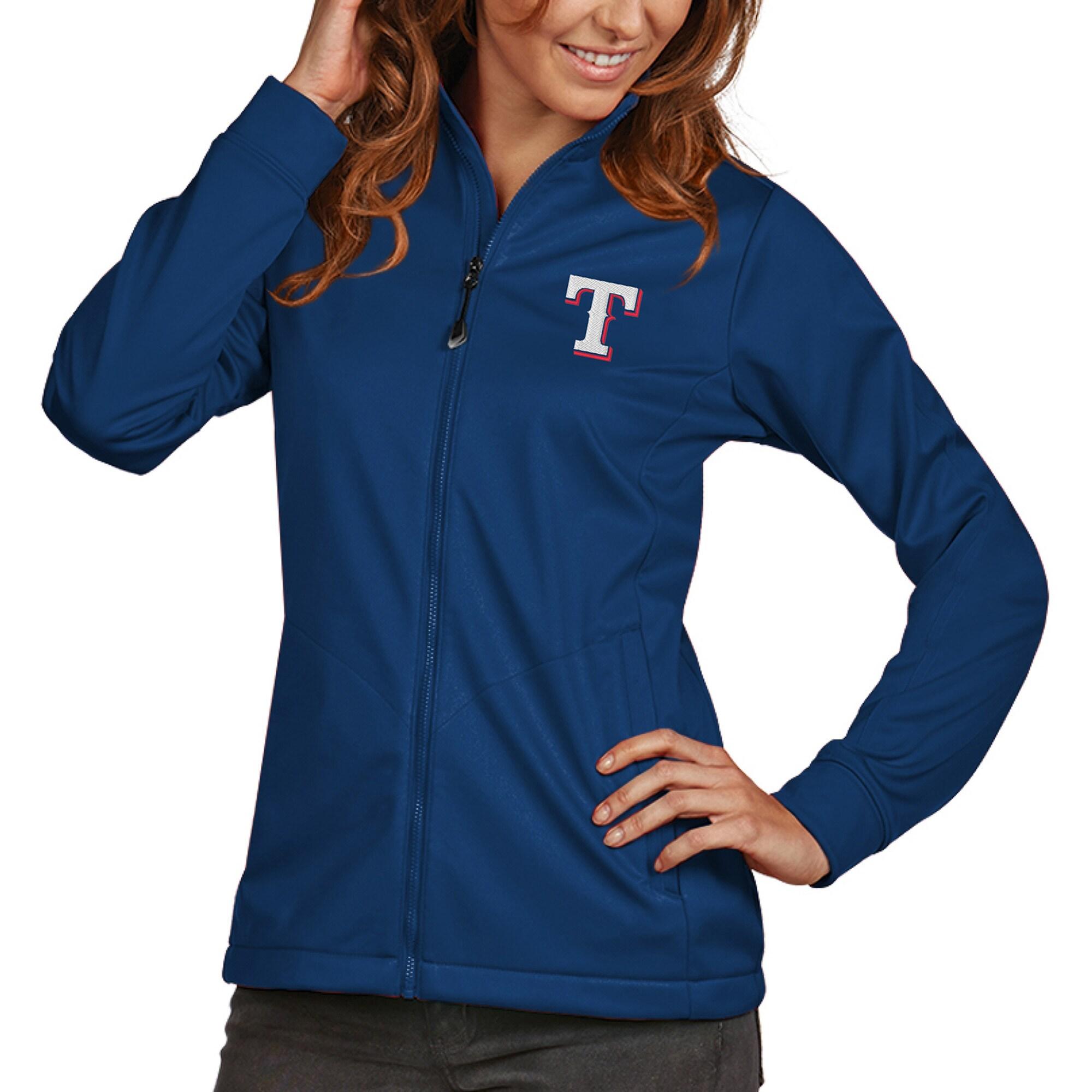 Texas Rangers Antigua Women's Golf Full-Zip Jacket - Royal