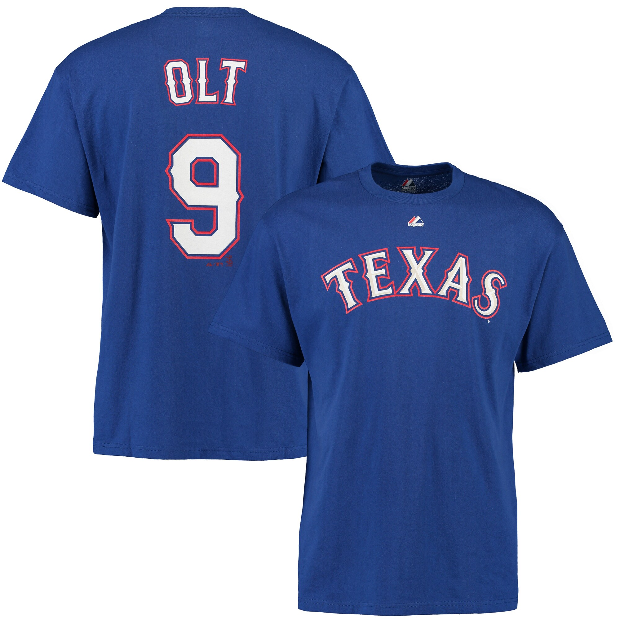Mike Olt Texas Rangers Majestic Youth Name & Number T-Shirt - Royal