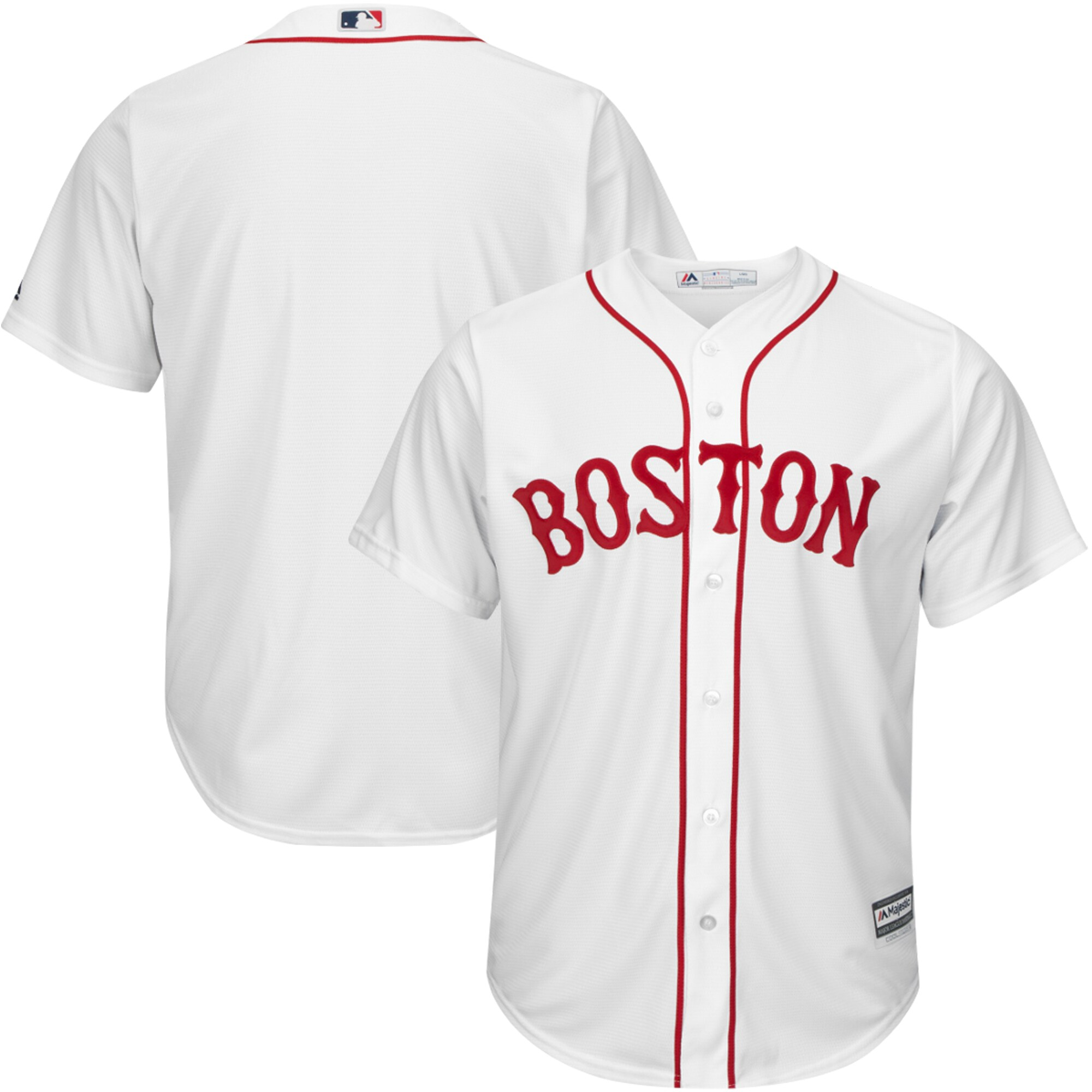 Boston Red Sox Majestic Official Cool Base Alternate Jersey - White