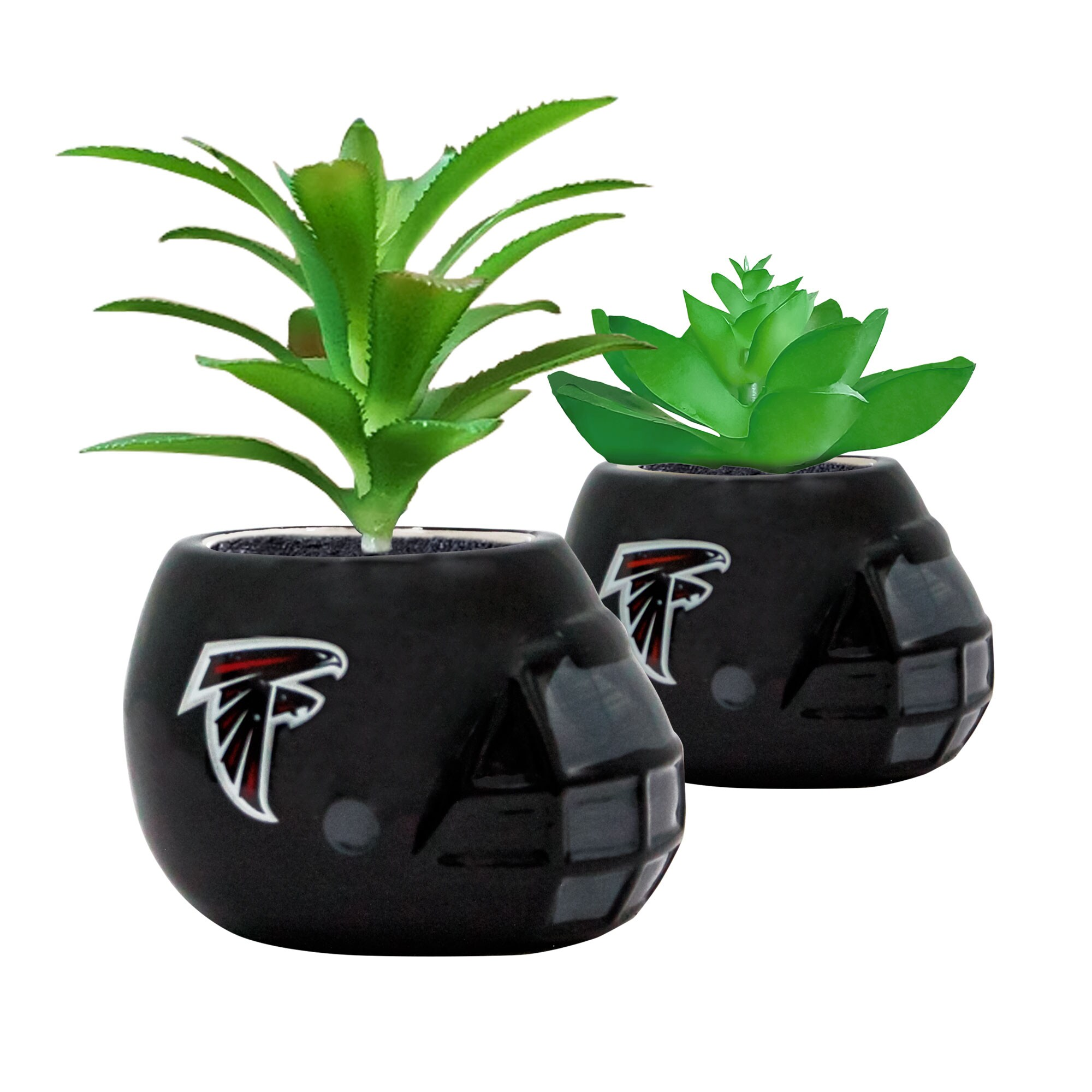 Atlanta Falcons 2-Piece Ceramic Helmet with Faux Succulent Set