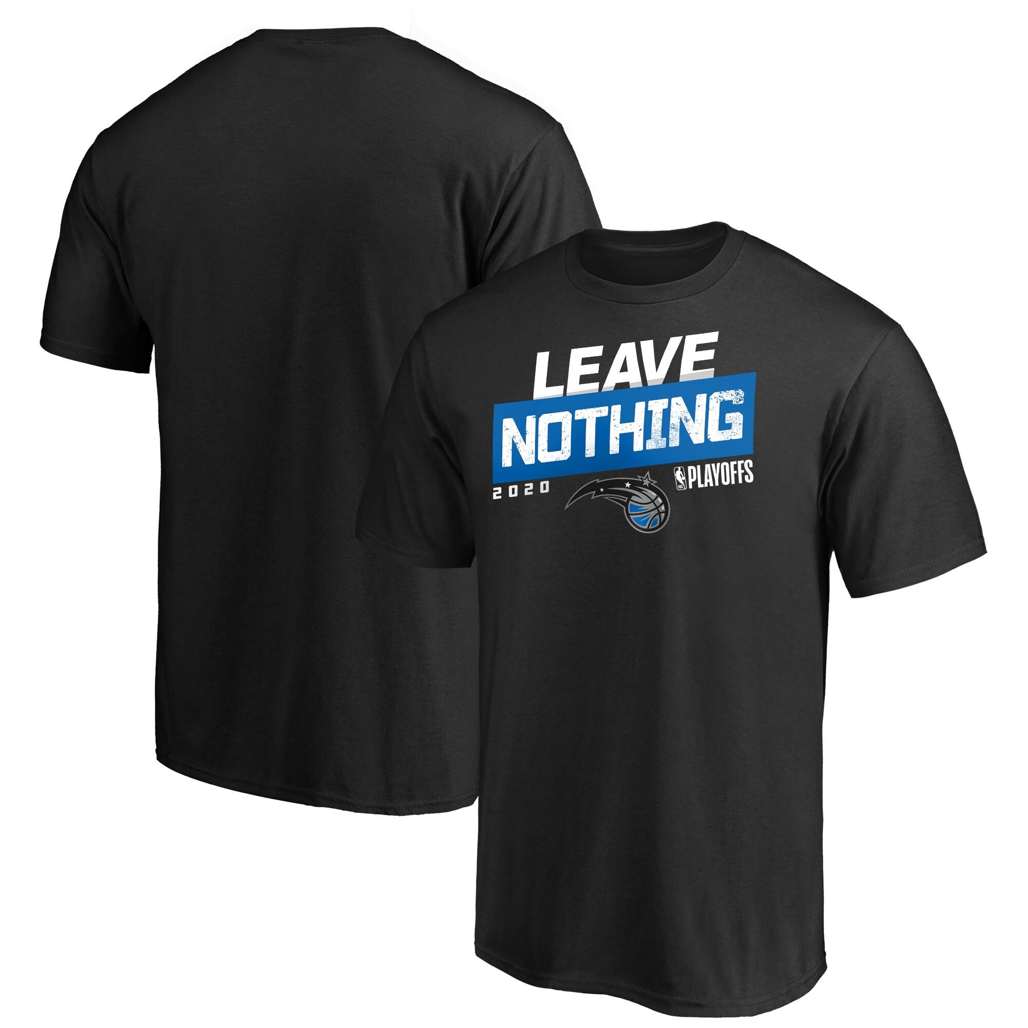 Orlando Magic Fanatics Branded 2020 NBA Playoffs Bound ISO Slogan T-Shirt - Black