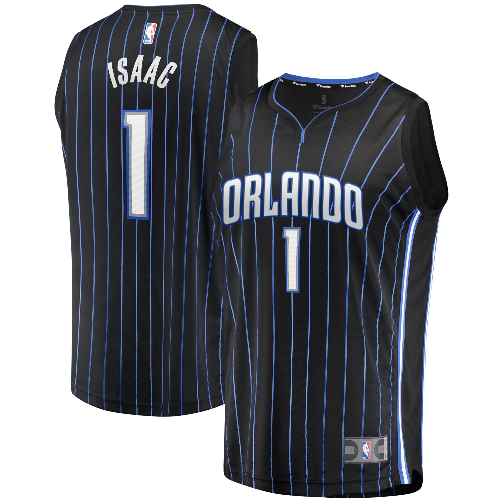 Jonathan Isaac Orlando Magic Fanatics Branded Fast Break Player Jersey - Icon Edition - Black