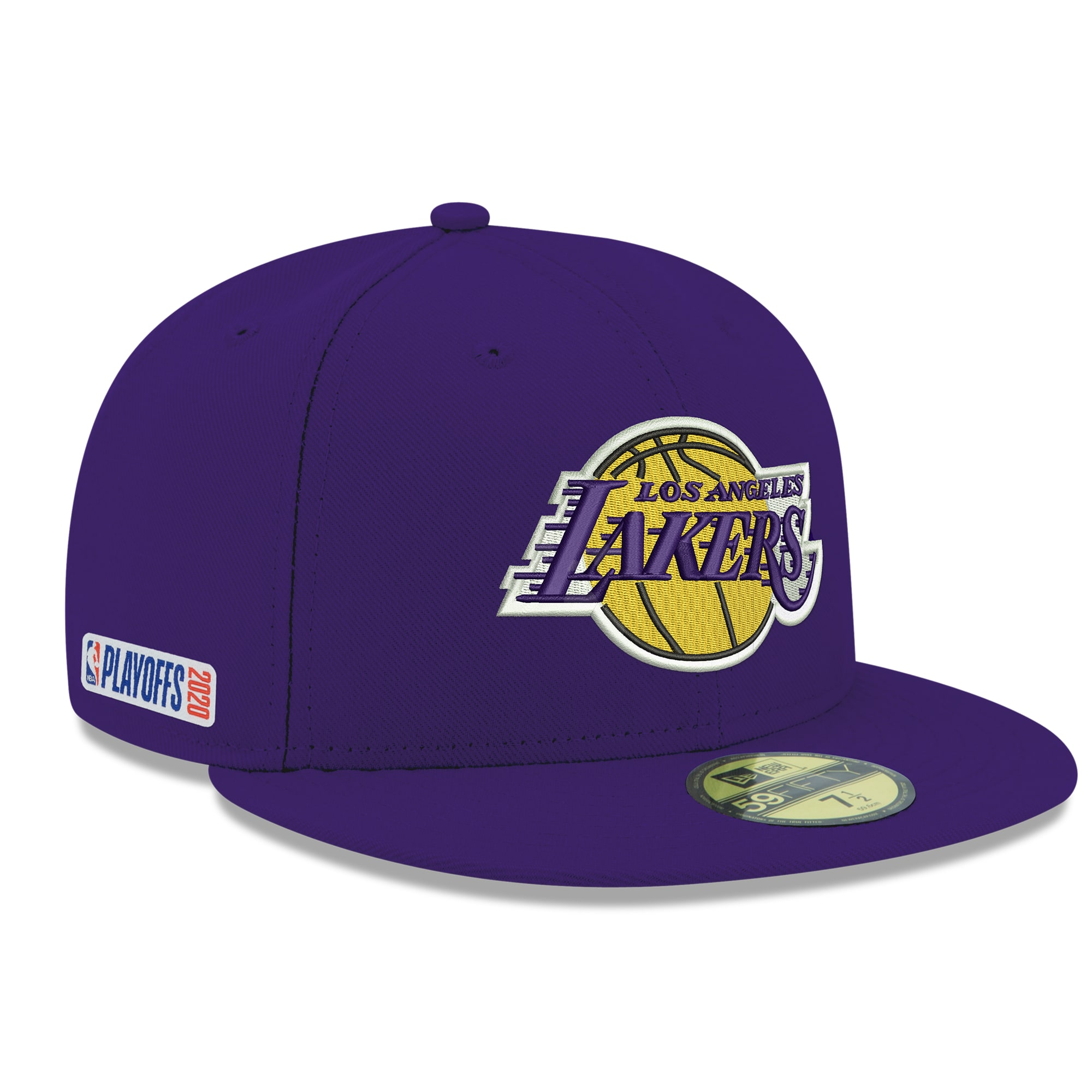 Los Angeles Lakers New Era 2020 NBA Playoffs Bound 59FIFTY Fitted Hat - Purple