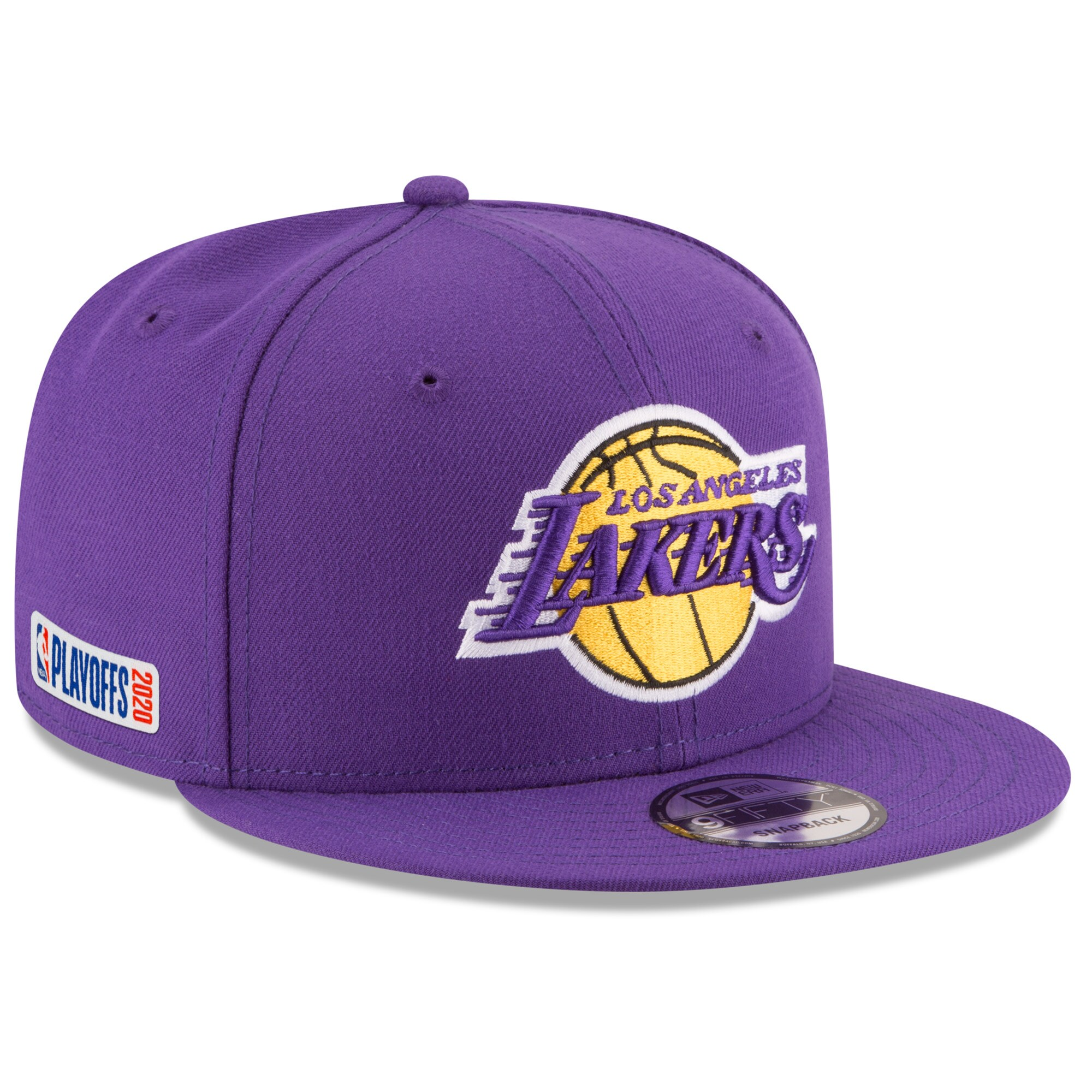Los Angeles Lakers New Era 2020 NBA Playoffs Bound 9FIFTY Snapback Adjustable Hat - Purple