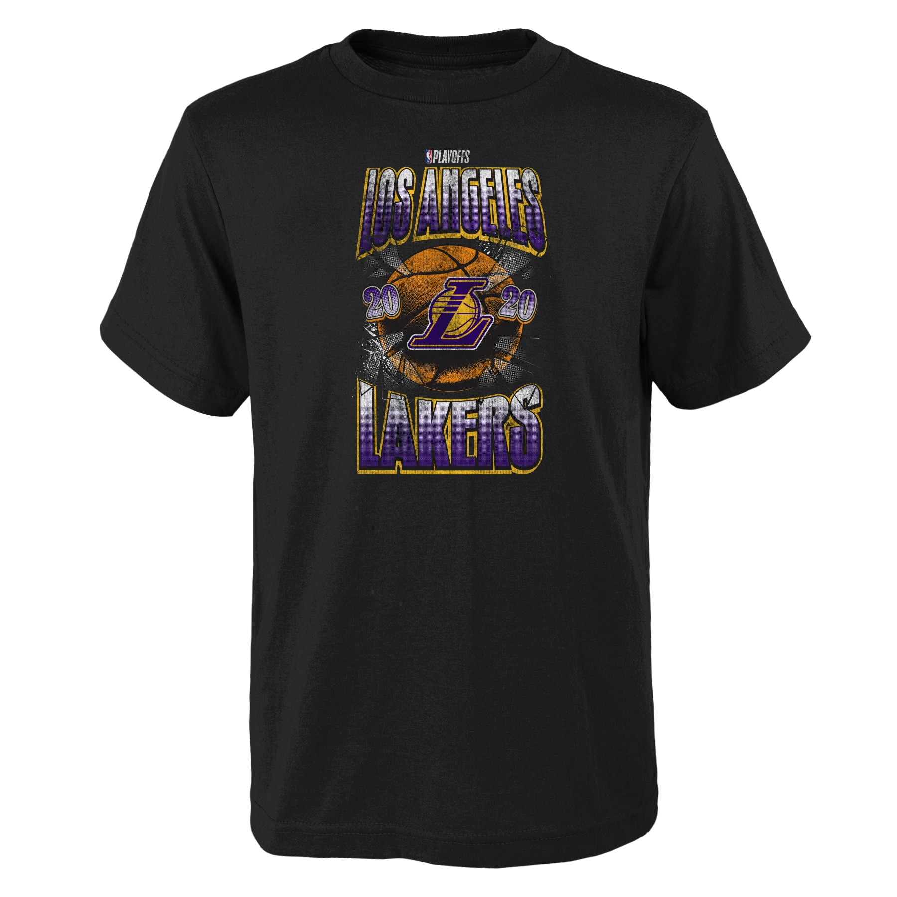 Los Angeles Lakers Nike Youth 2020 NBA Playoffs Bound Hype T-Shirt - Black