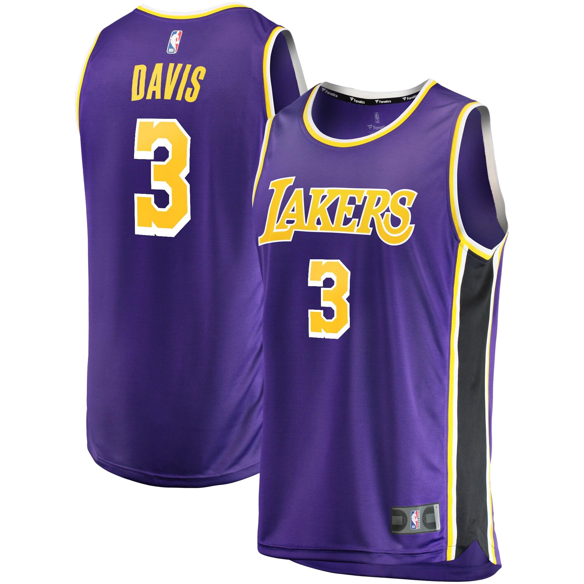 Anthony Davis Los Angeles Lakers Fanatics Branded Youth Fast Break Player Replica Jersey - Statement Edition - Purple