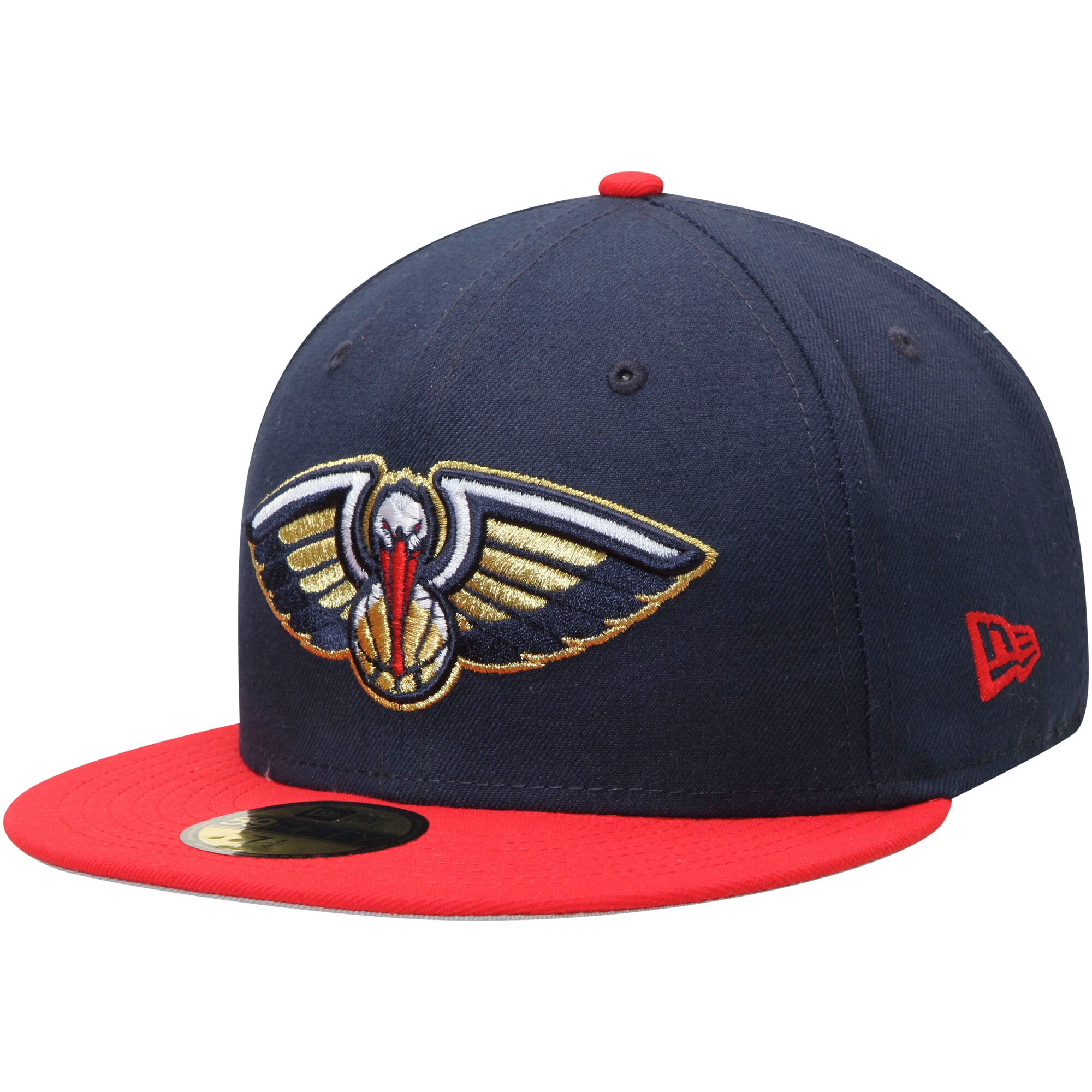 New Orleans Pelicans New Era Official Team Color 2Tone 59FIFTY Fitted Hat - Navy/Red