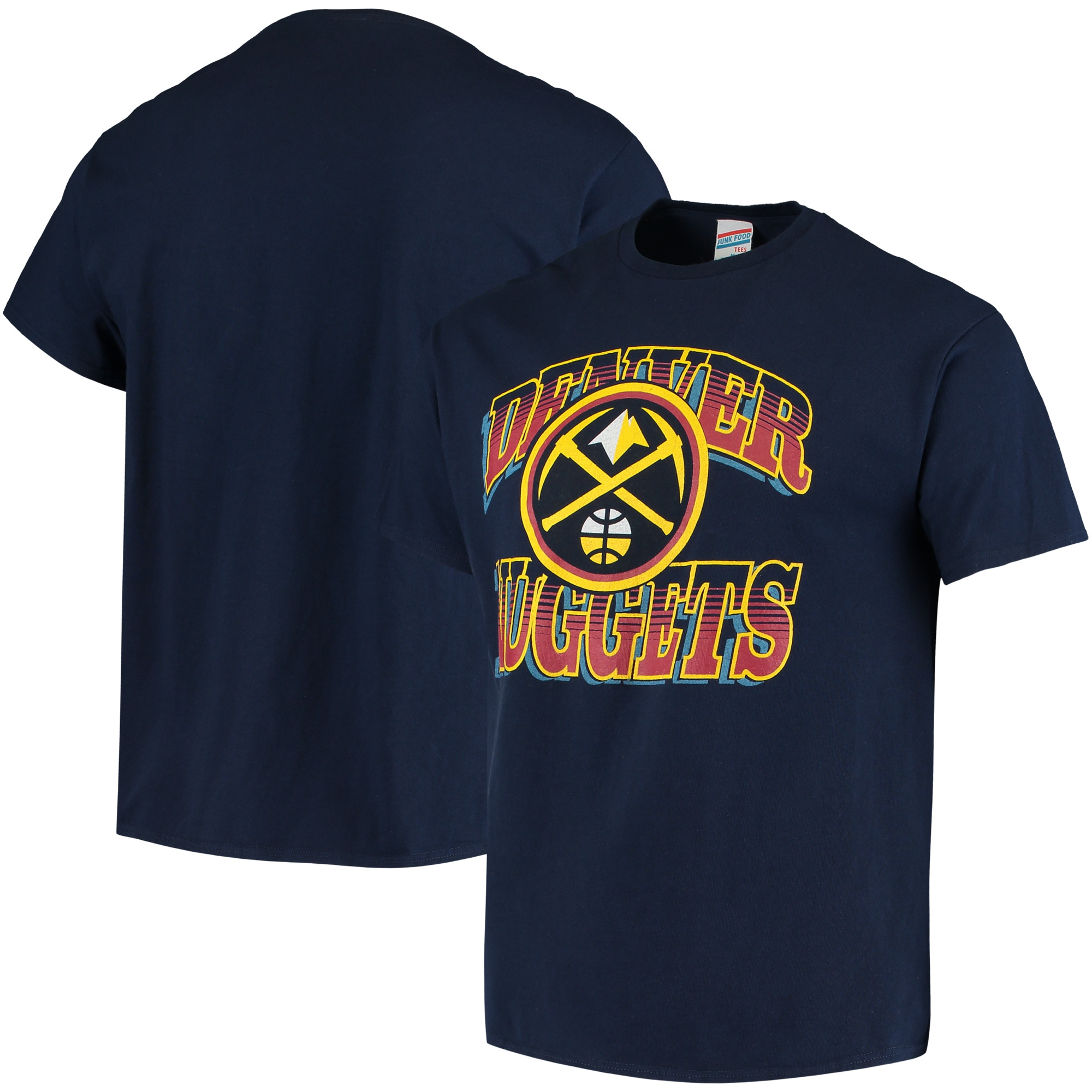 Denver Nuggets Junk Food Hometown T-Shirt - Navy