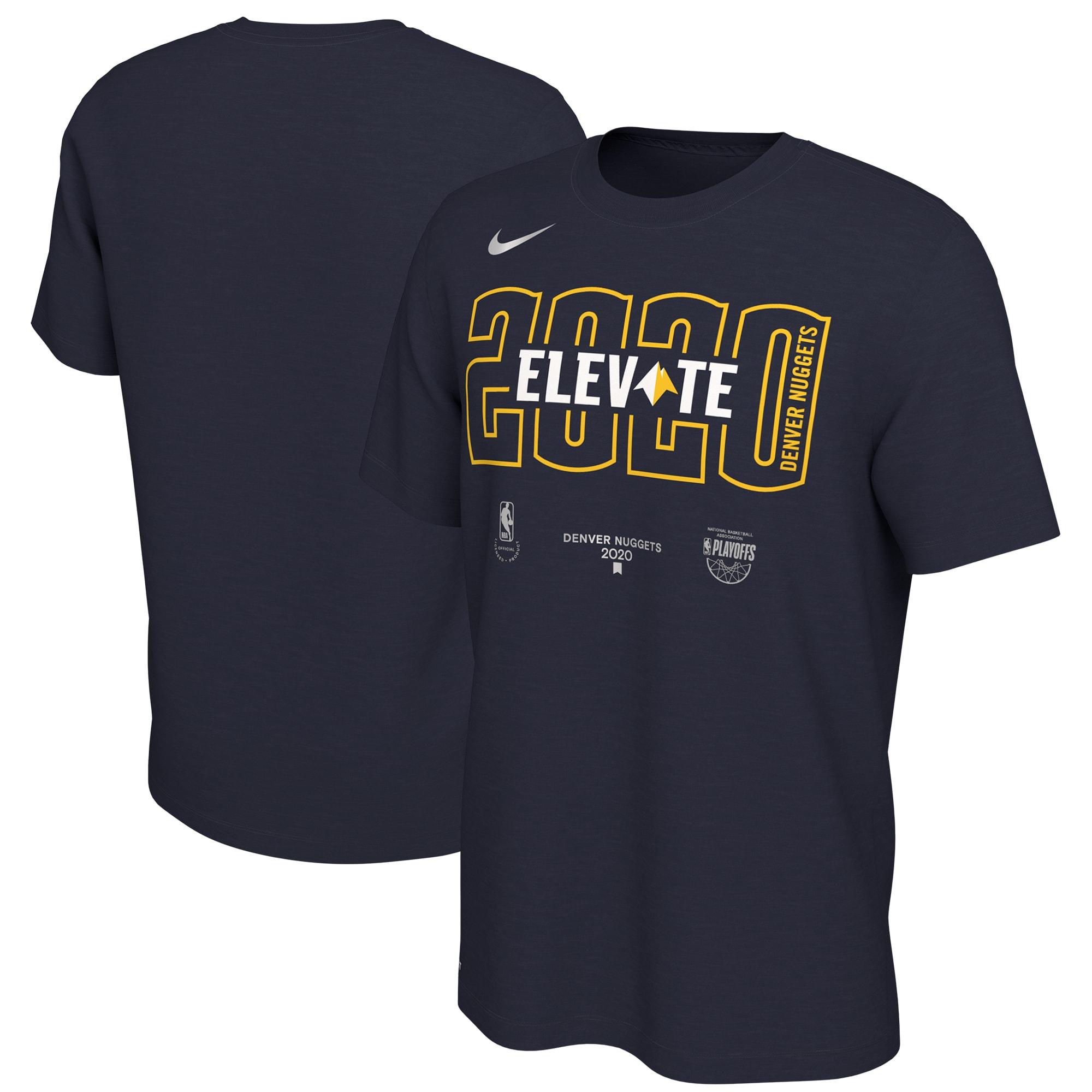 Denver Nuggets Nike 2020 NBA Playoffs Bound Mantra T-Shirt - Navy