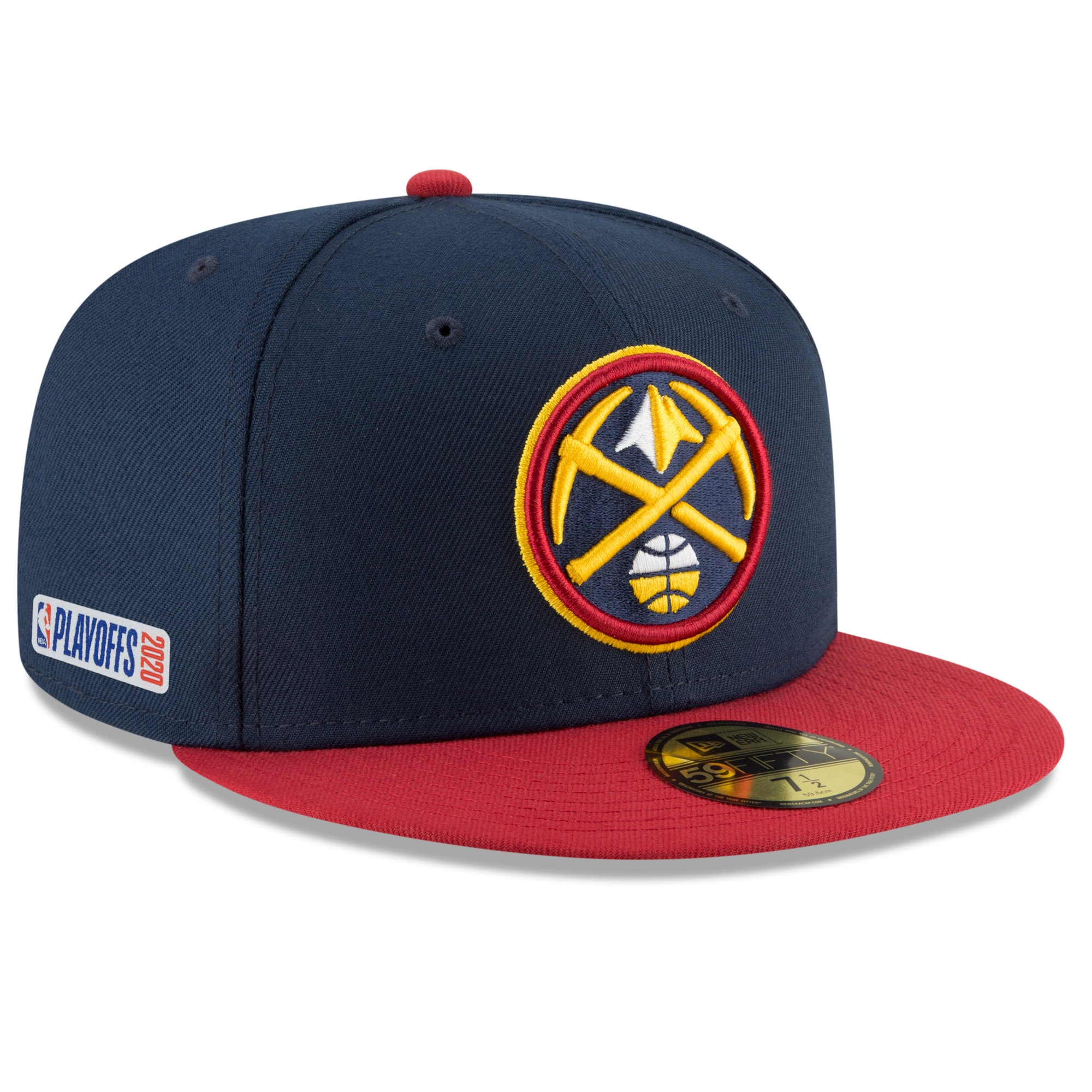 Denver Nuggets New Era 2020 NBA Playoffs Bound 2-Tone 59FIFTY Fitted Hat - Navy