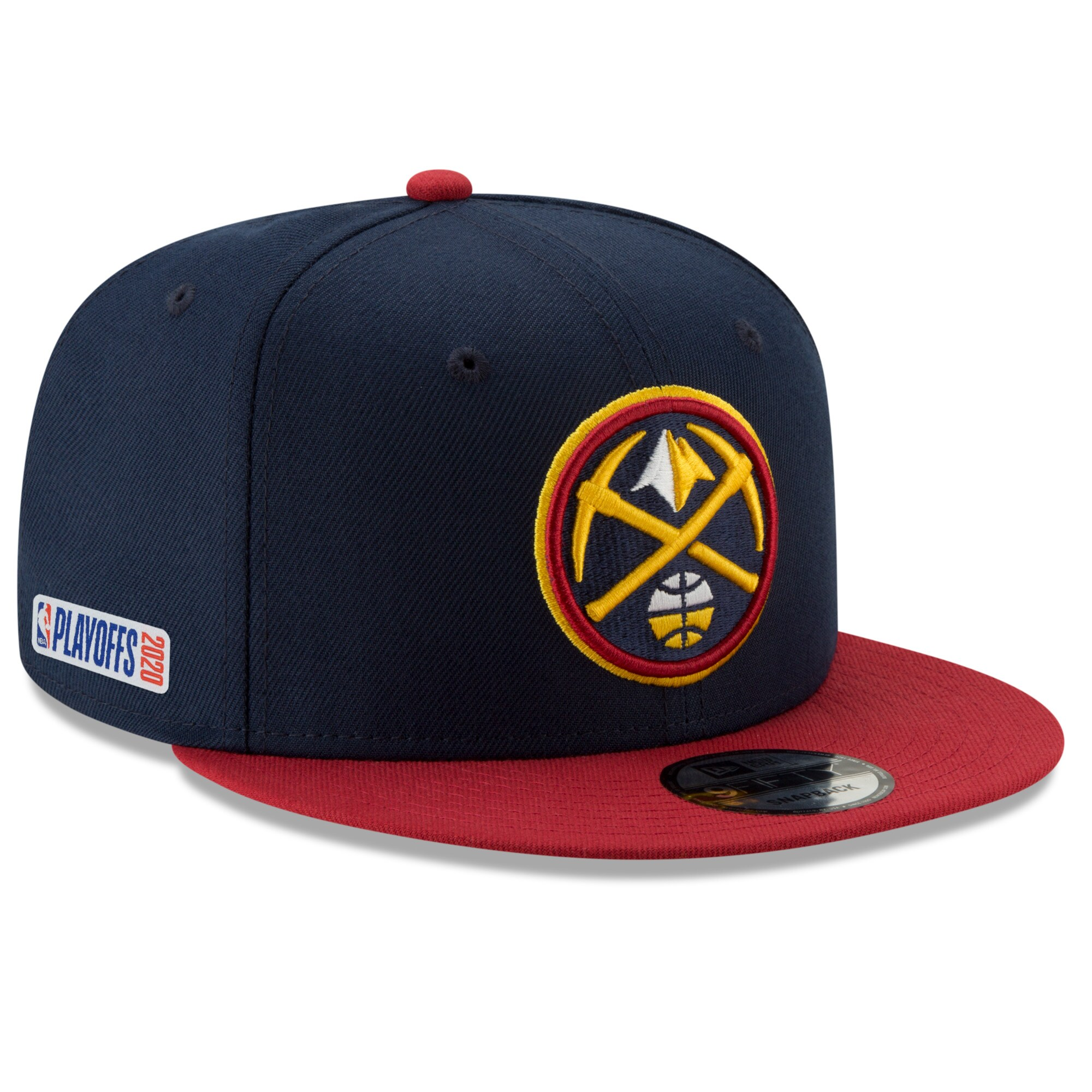 Denver Nuggets New Era 2020 NBA Playoffs Bound 2-Tone 9FIFTY Snapback Adjustable Hat - Navy