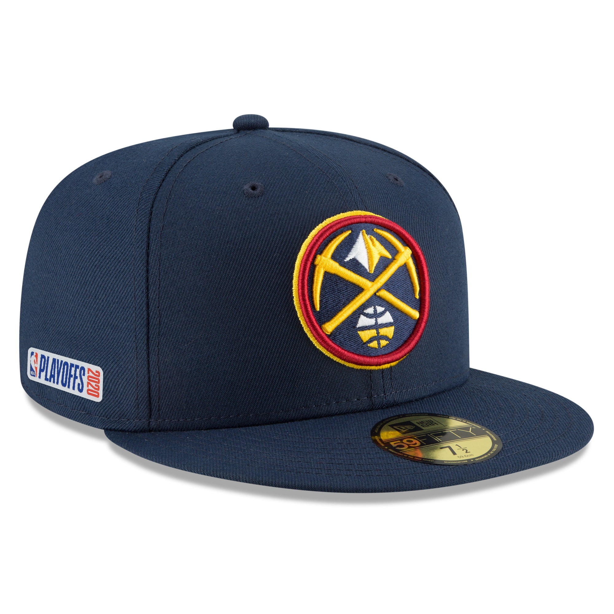 Denver Nuggets New Era 2020 NBA Playoffs Bound 59FIFTY Fitted Hat - Navy
