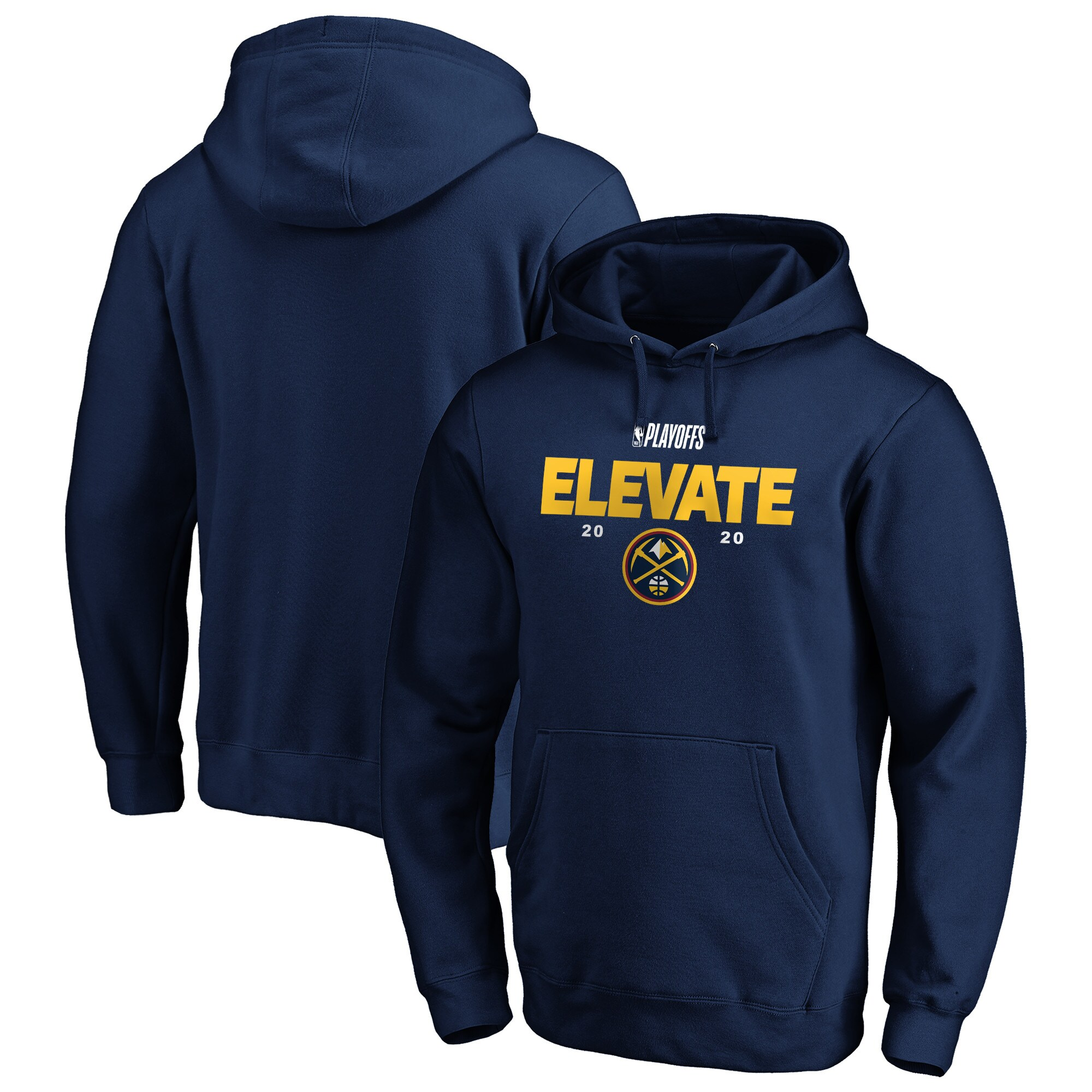 Denver Nuggets Fanatics Branded 2020 NBA Playoffs Bound Tip Off Pullover Hoodie - Navy