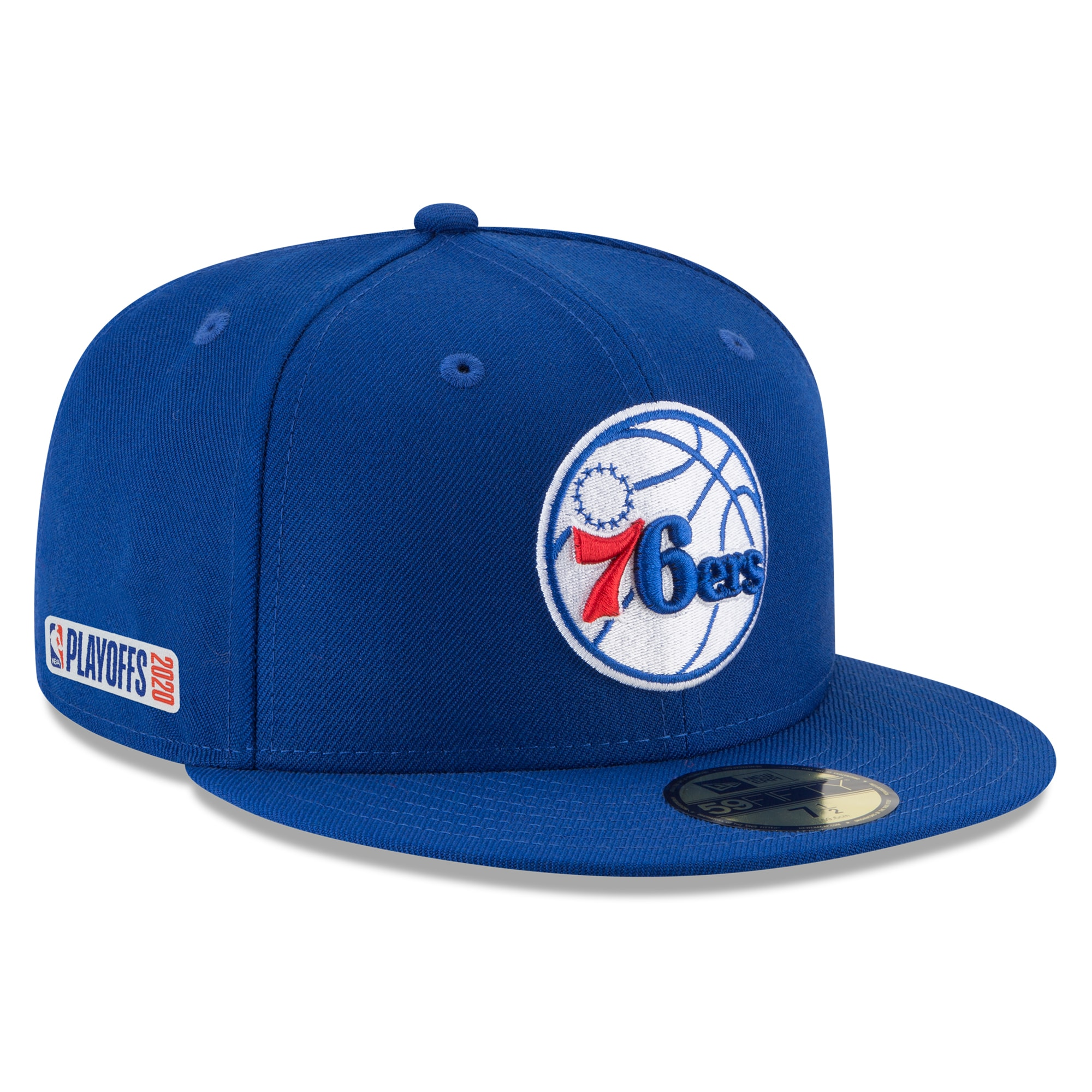 Philadelphia 76ers New Era 2020 NBA Playoffs Bound 59FIFTY Fitted Hat - Blue