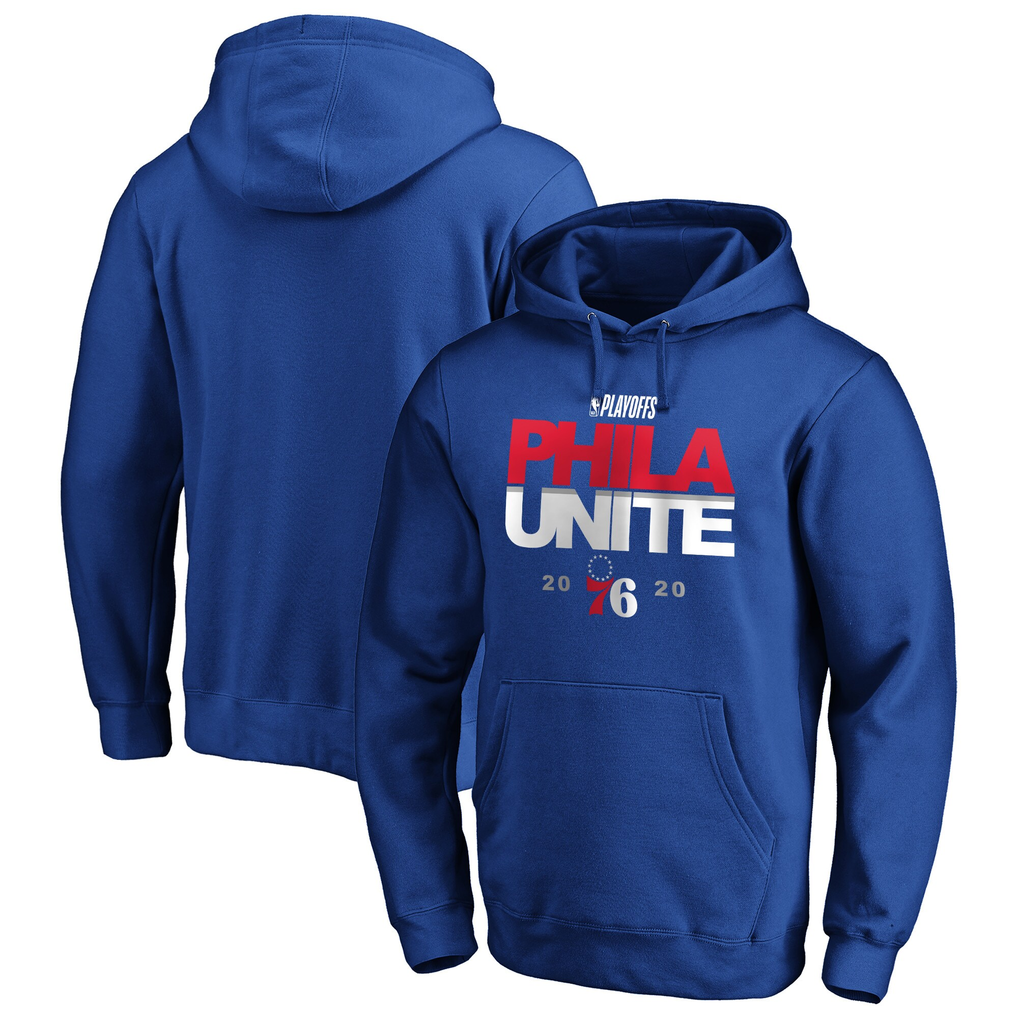 Philadelphia 76ers Fanatics Branded 2020 NBA Playoffs Bound Tip Off Pullover Hoodie - Royal