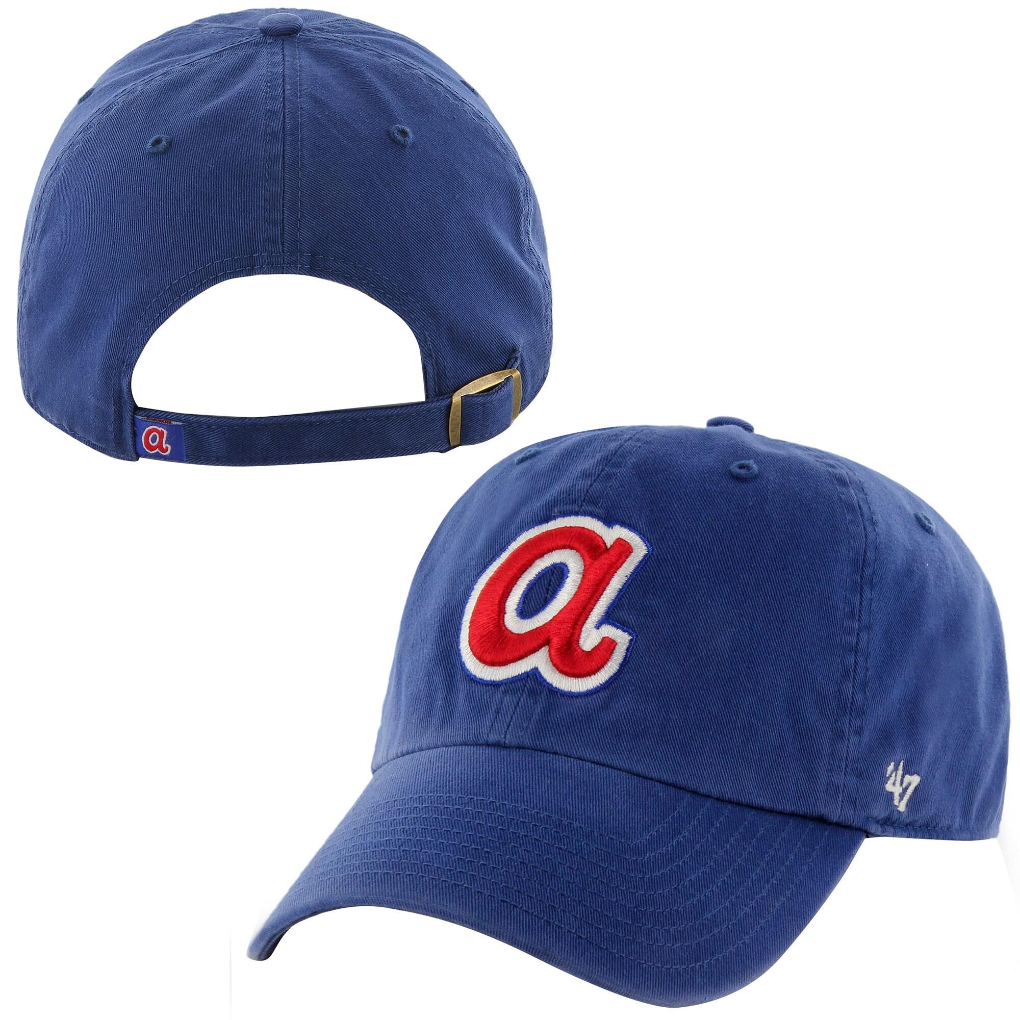 Atlanta Braves '47 Brand 1972 Cooperstown Collection Basic Logo Cleanup Adjustable Hat - Royal Blue