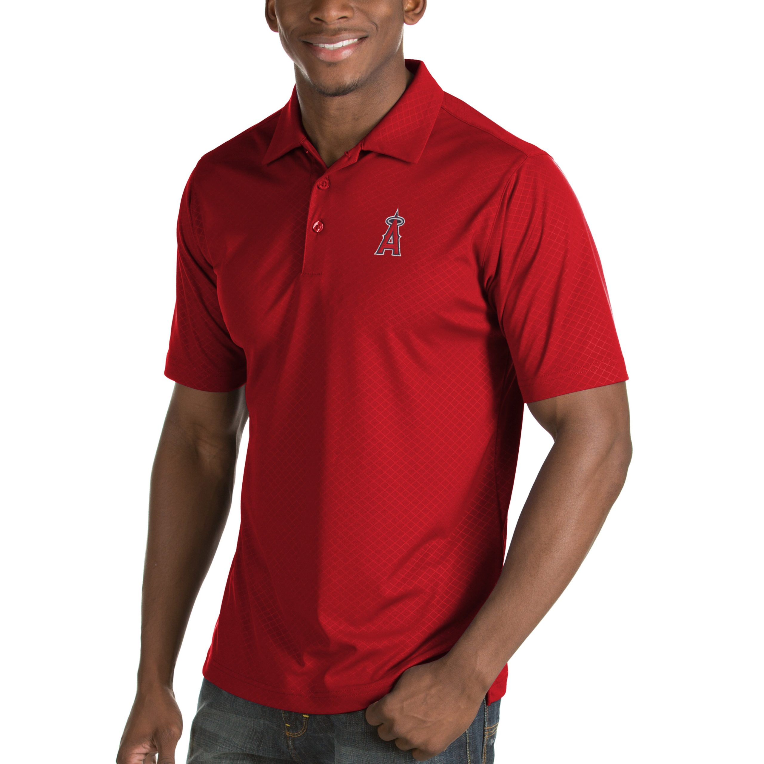 Los Angeles Angels Antigua Inspire Desert Dry Polo - Red