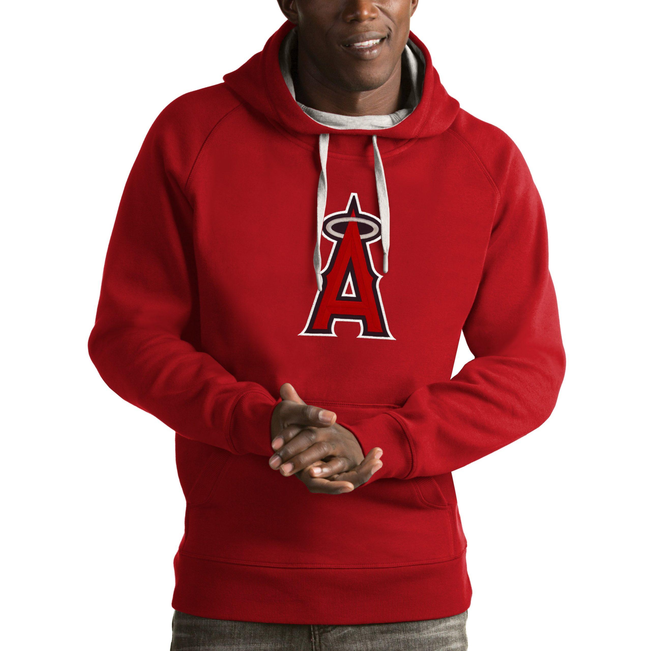 Los Angeles Angels Antigua Victory Pullover Hoodie - Red
