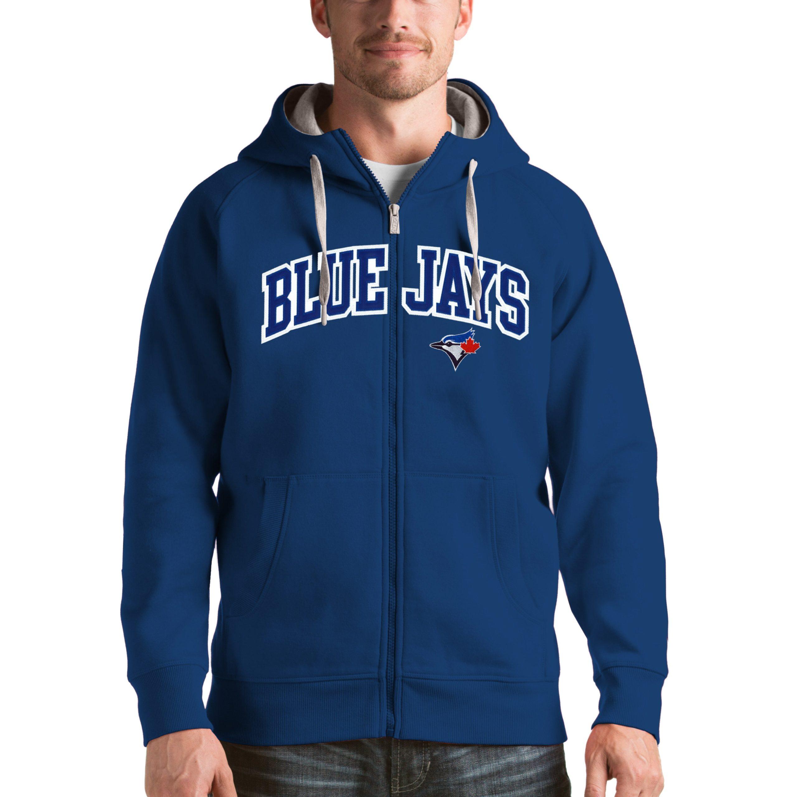 Toronto Blue Jays Antigua Victory Full-Zip Hoodie - Royal