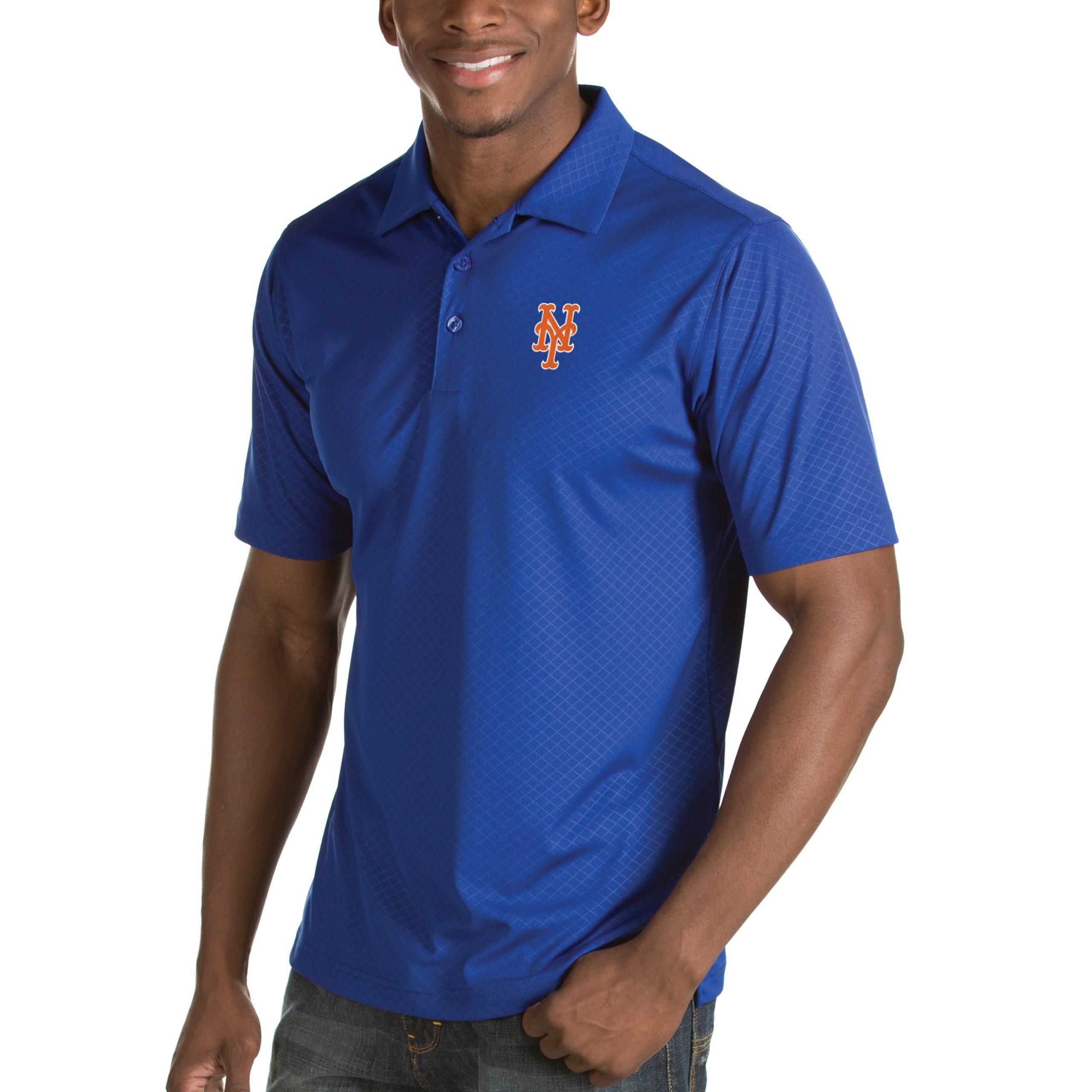 New York Mets Antigua Inspire Desert Dry Polo - Royal