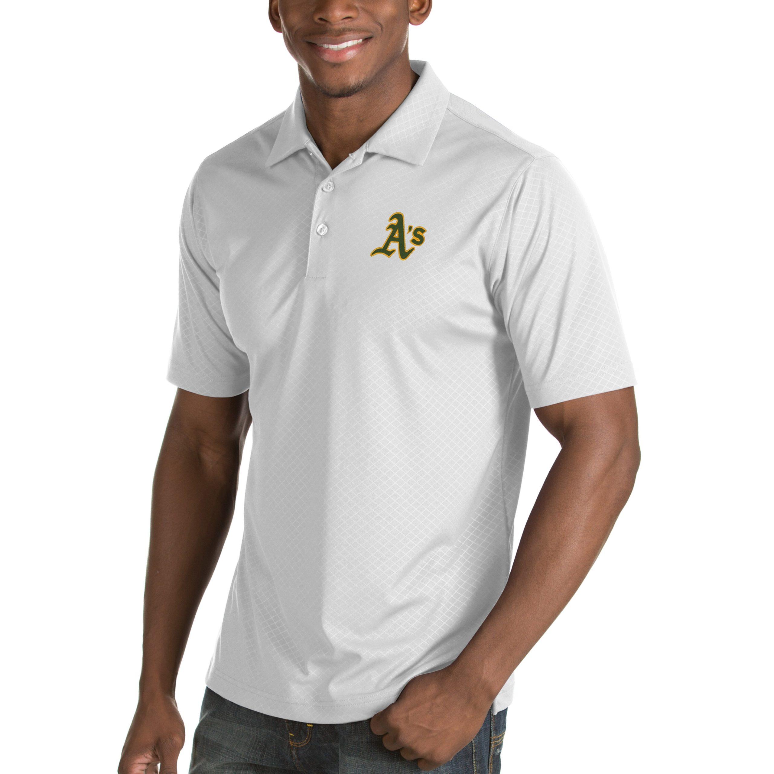 Oakland Athletics Antigua Inspire Desert Dry Polo - White