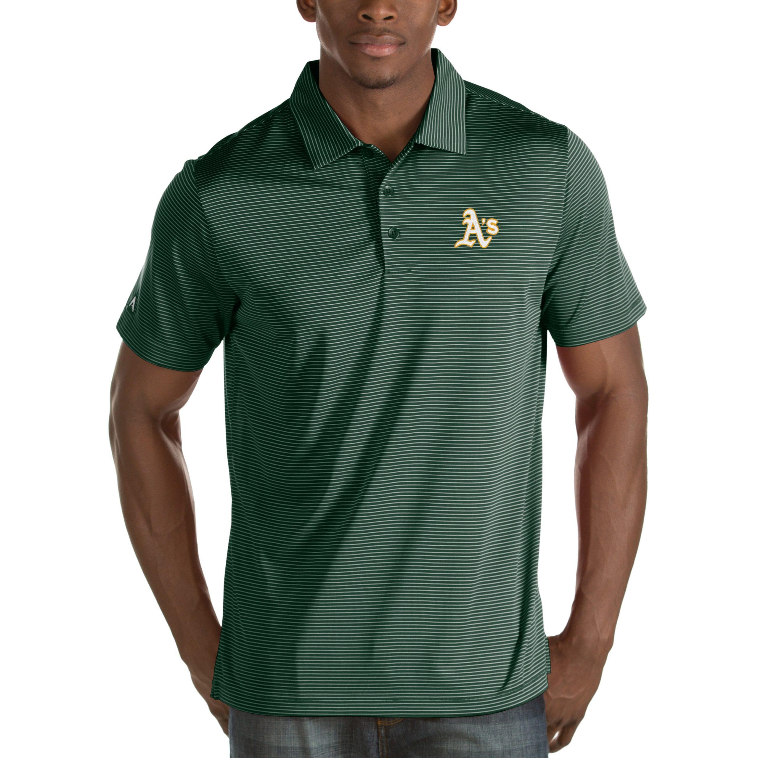 Oakland Athletics Antigua Quest Desert Dry Polo - Green