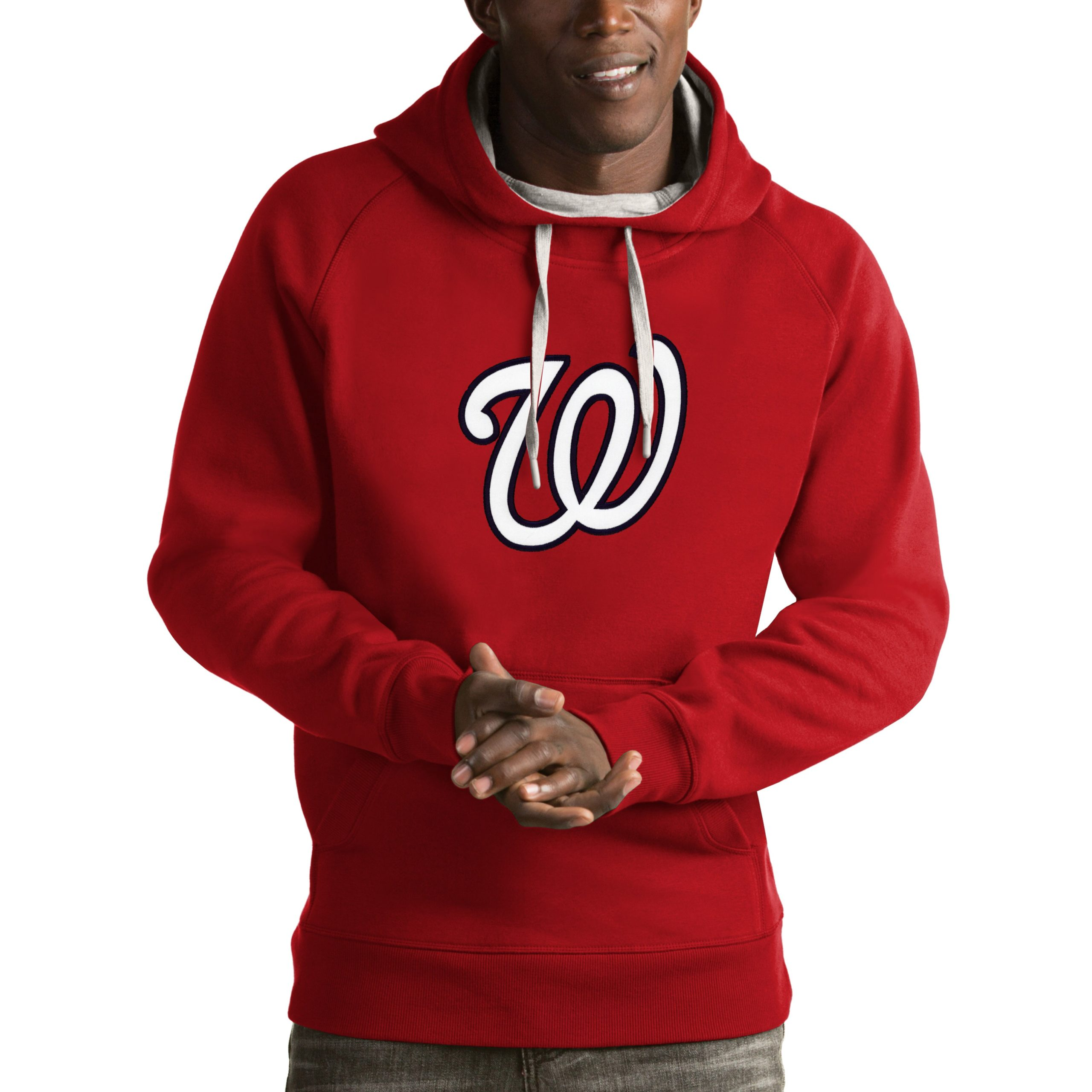 Washington Nationals Antigua Victory Pullover Hoodie - Red