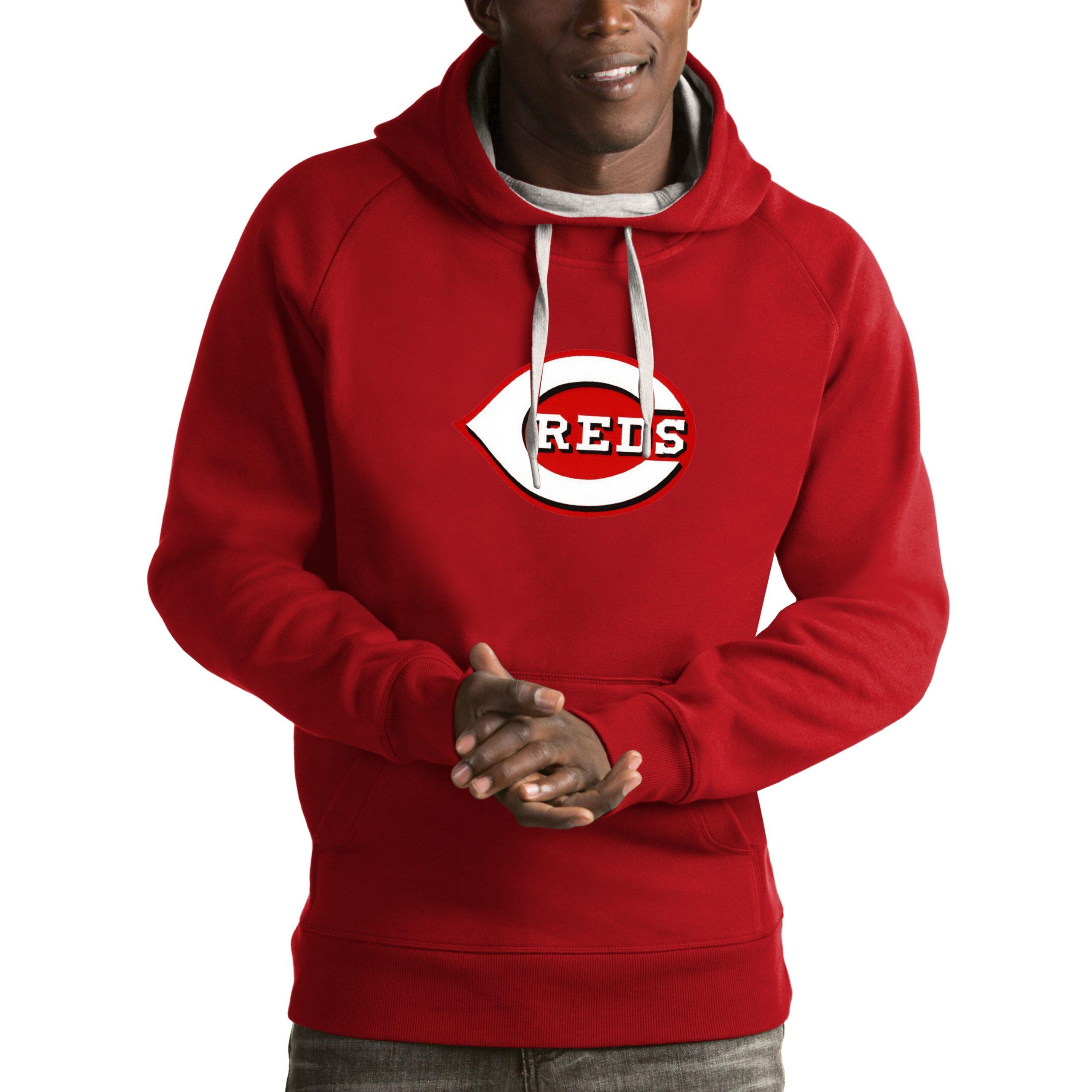 Cincinnati Reds Antigua Victory Pullover Hoodie - Red