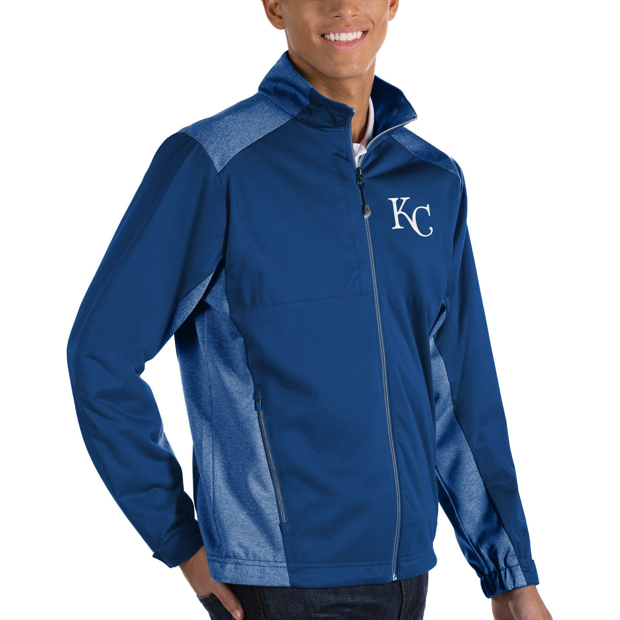 Kansas City Royals Antigua Revolve Full-Zip Jacket - Royal