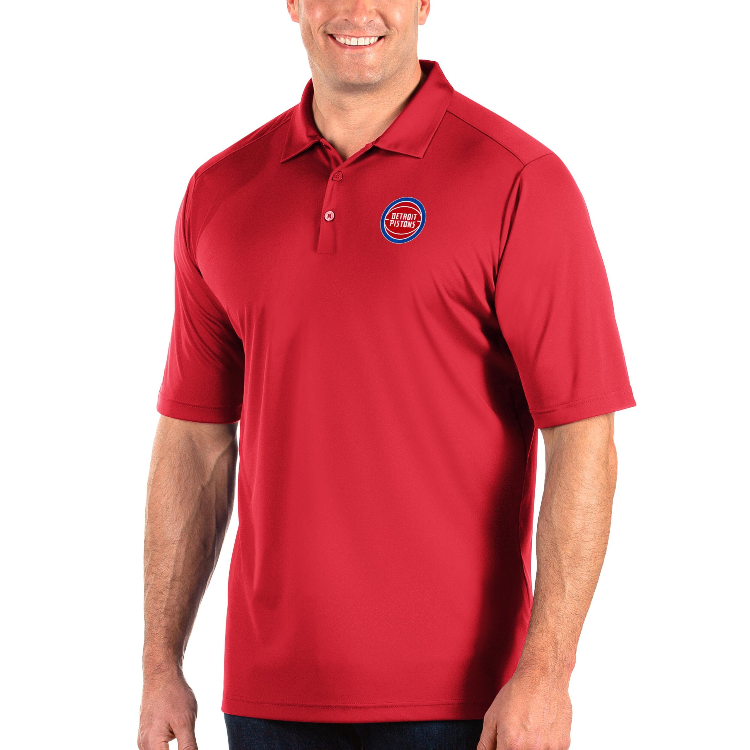 Detroit Pistons Antigua Big & Tall Tribute Polo - Red
