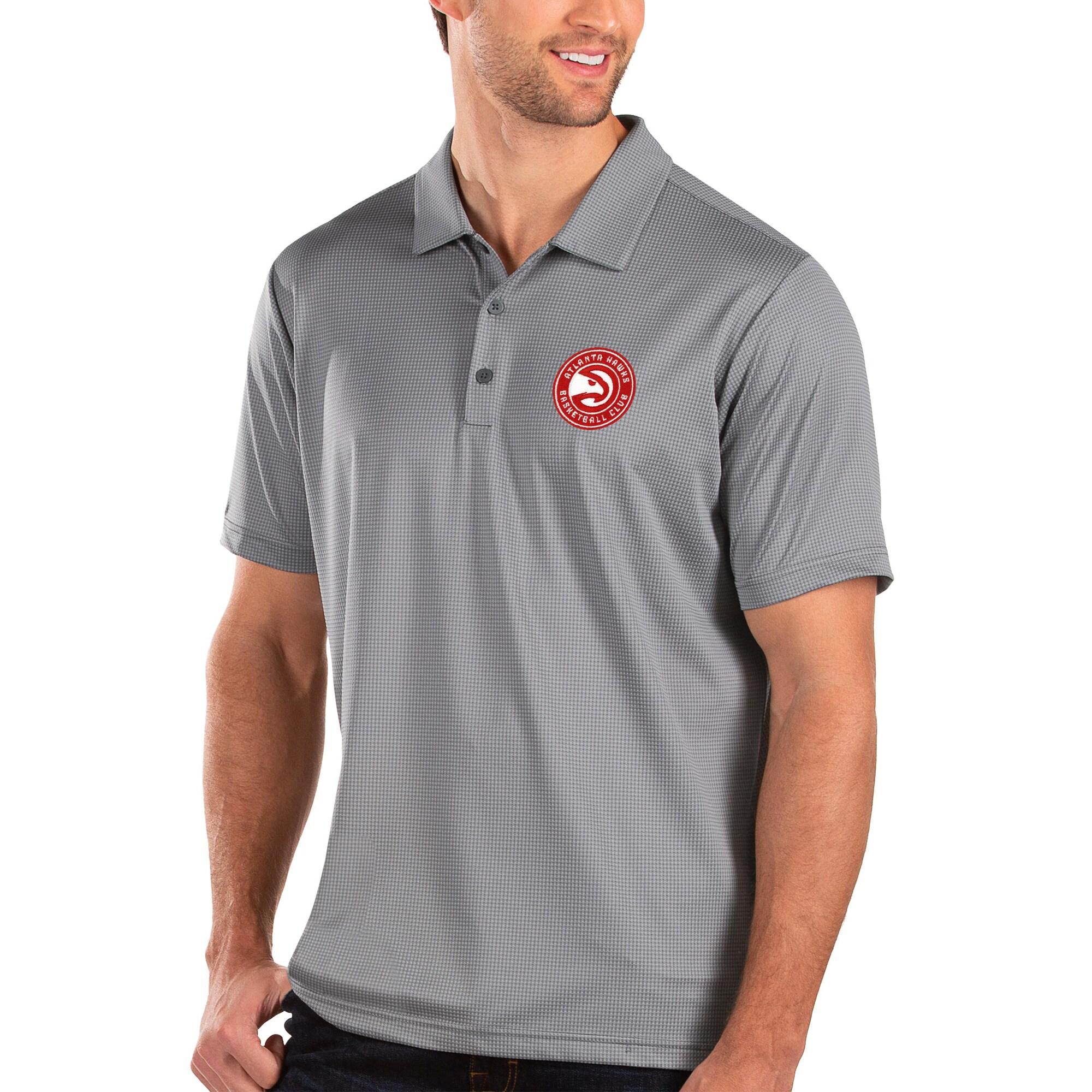 Atlanta Hawks Antigua Balance Polo - Charcoal