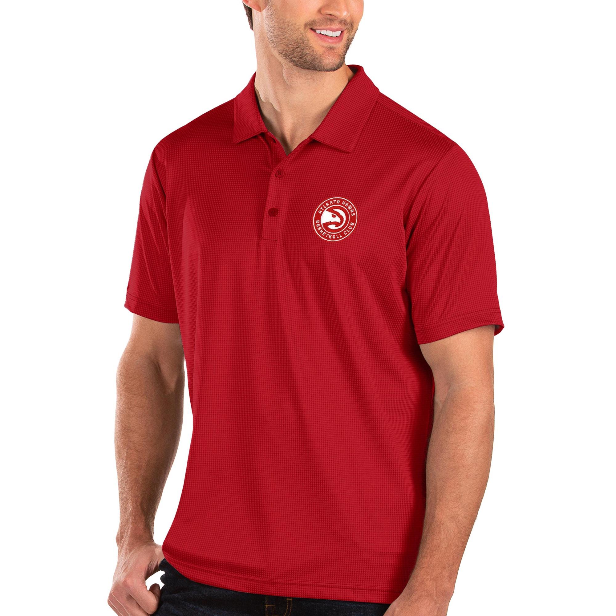 Atlanta Hawks Antigua Balance Polo - Red