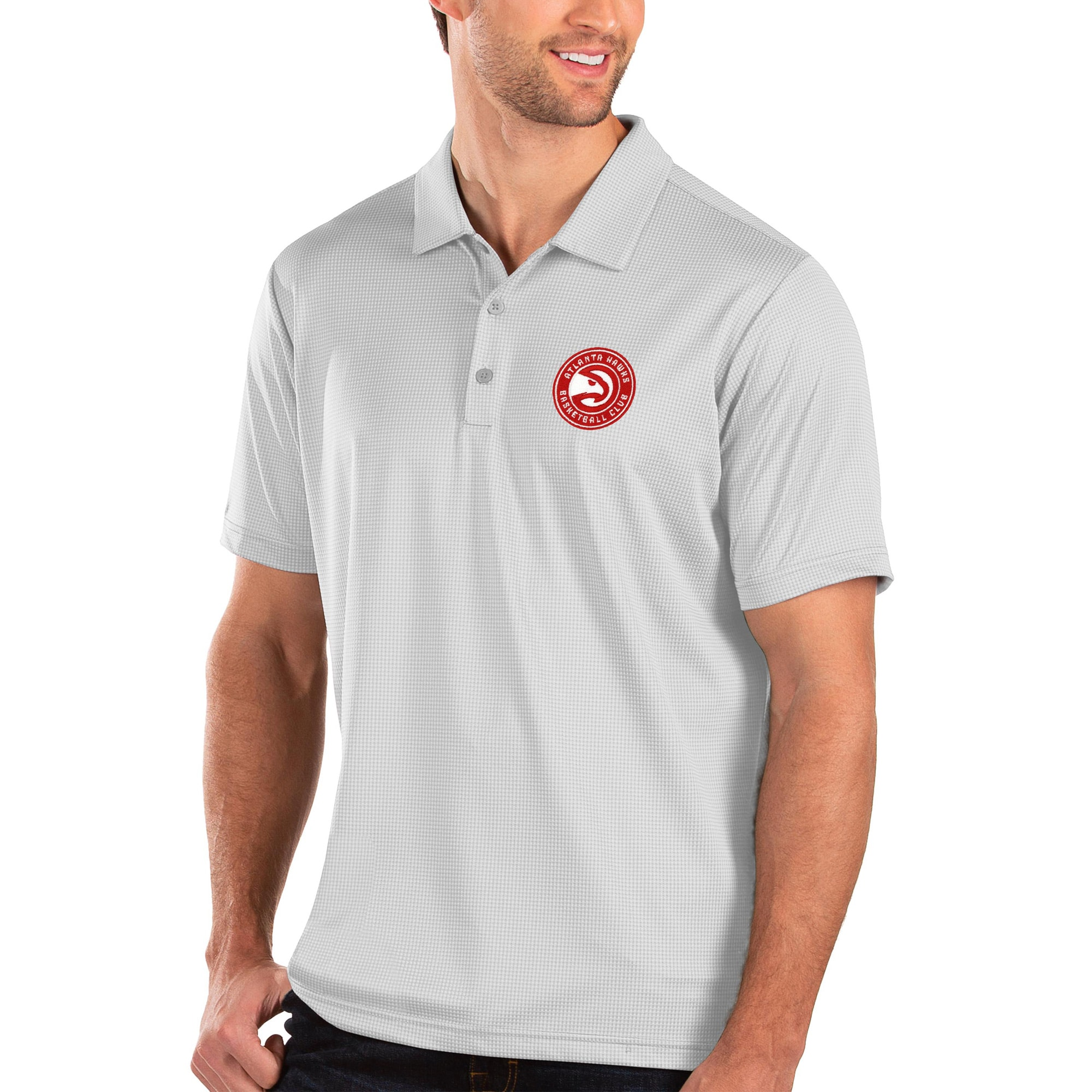 Atlanta Hawks Antigua Balance Polo - White