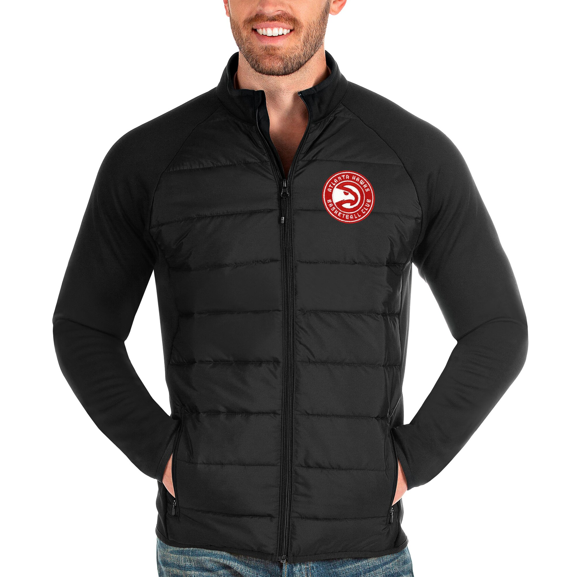 Atlanta Hawks Antigua Altitude Full-Zip Jacket - Black
