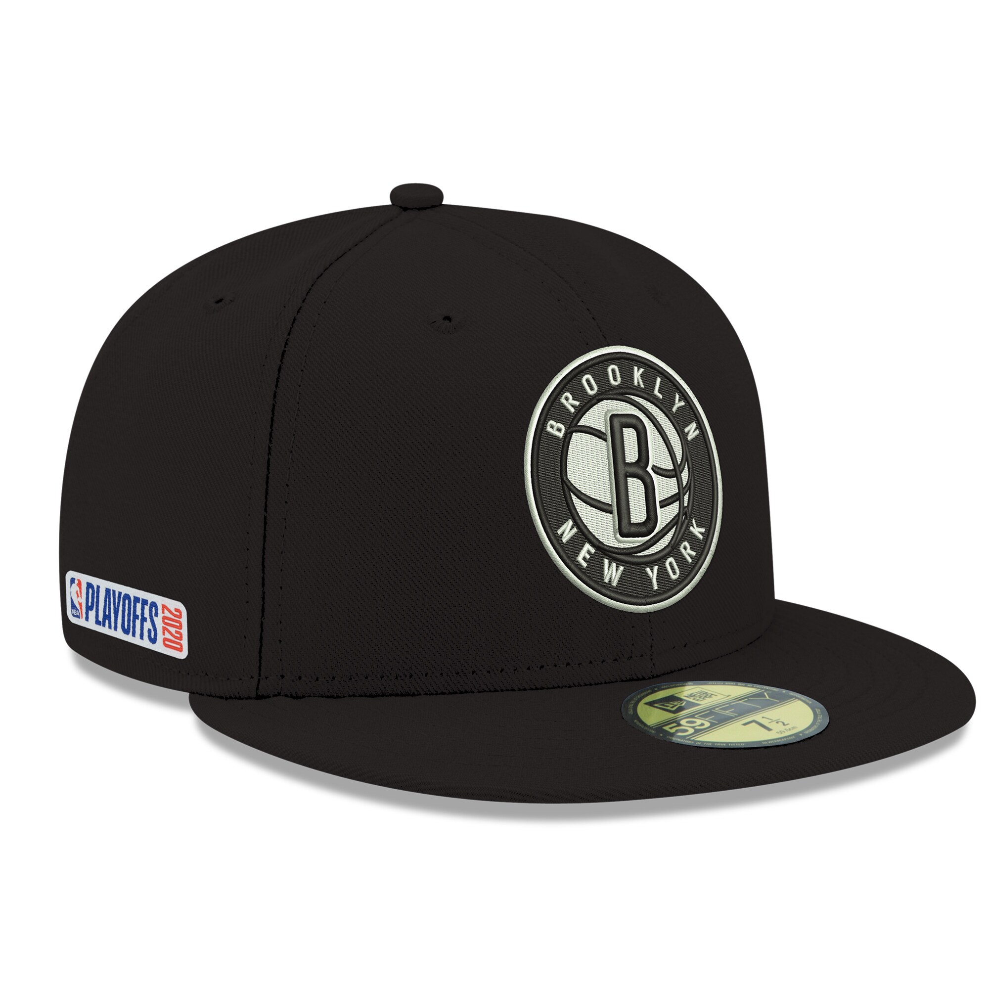 Brooklyn Nets New Era 2020 NBA Playoffs Bound 59FIFTY Fitted Hat - Black