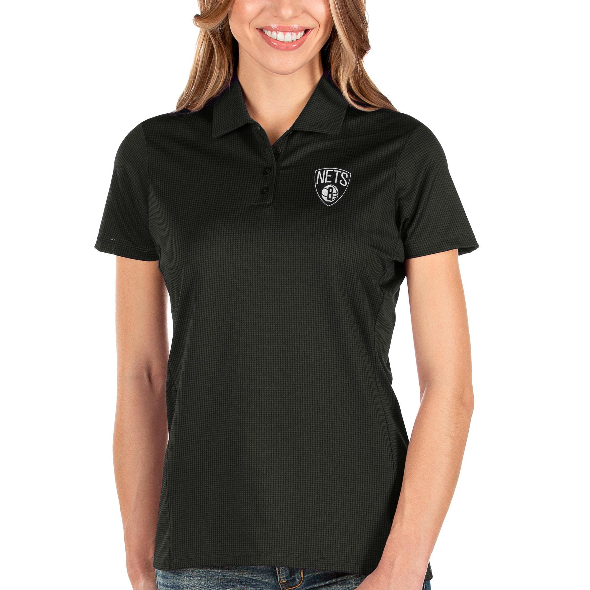 Brooklyn Nets Antigua Women's Balance Polo - Black