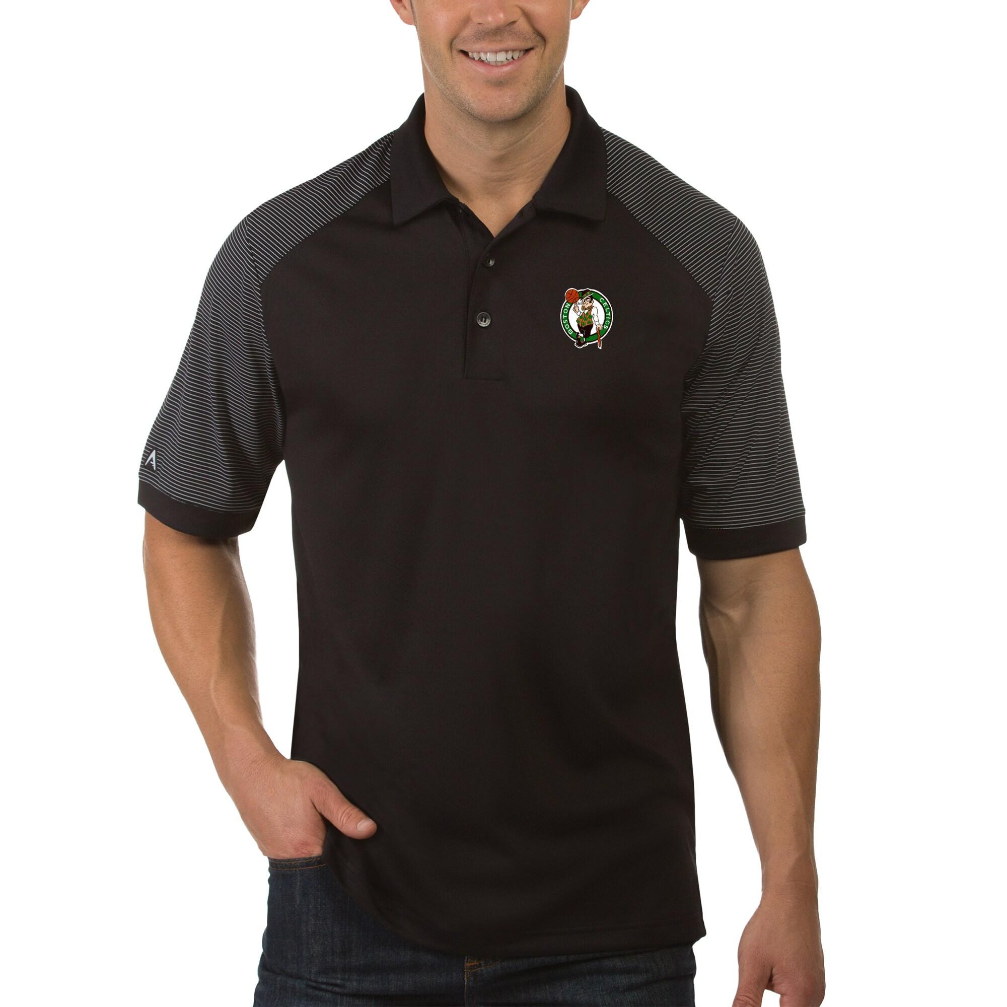 Boston Celtics Antigua Engage Polo - Black