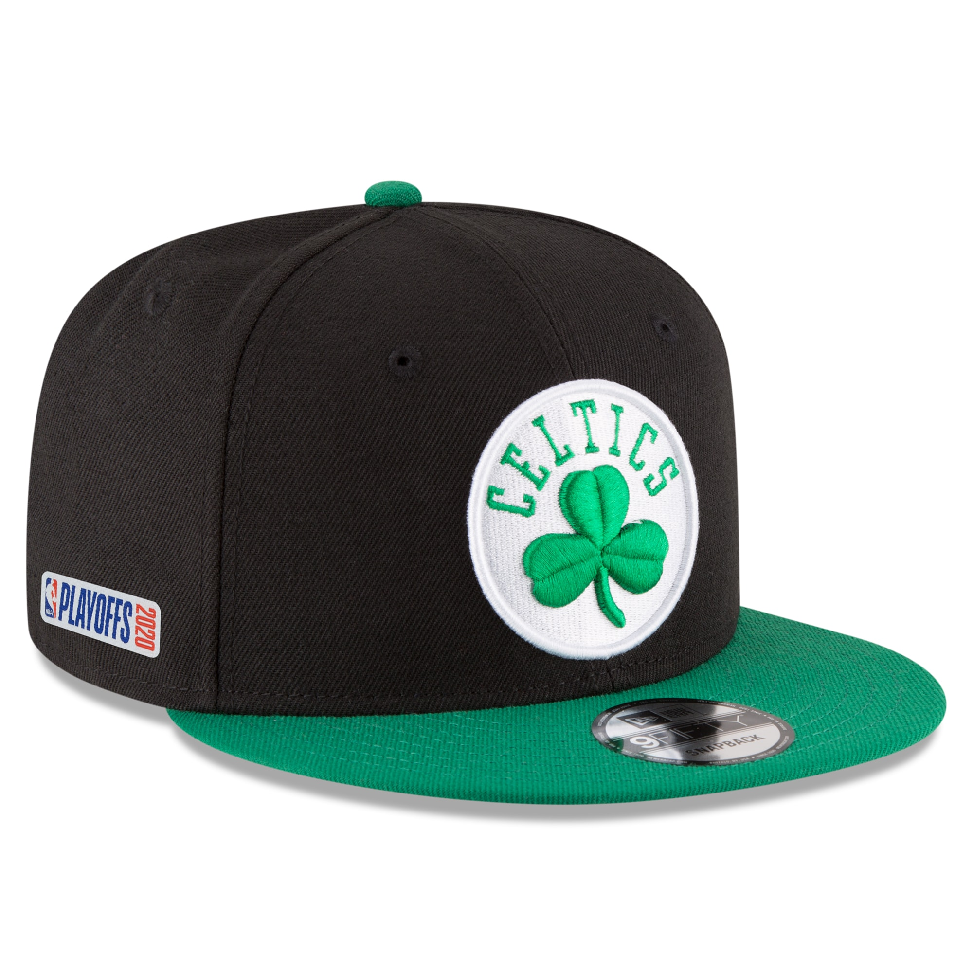 Boston Celtics New Era 2020 NBA Playoffs Bound 2-Tone 9FIFTY Snapback Adjustable Hat - Black
