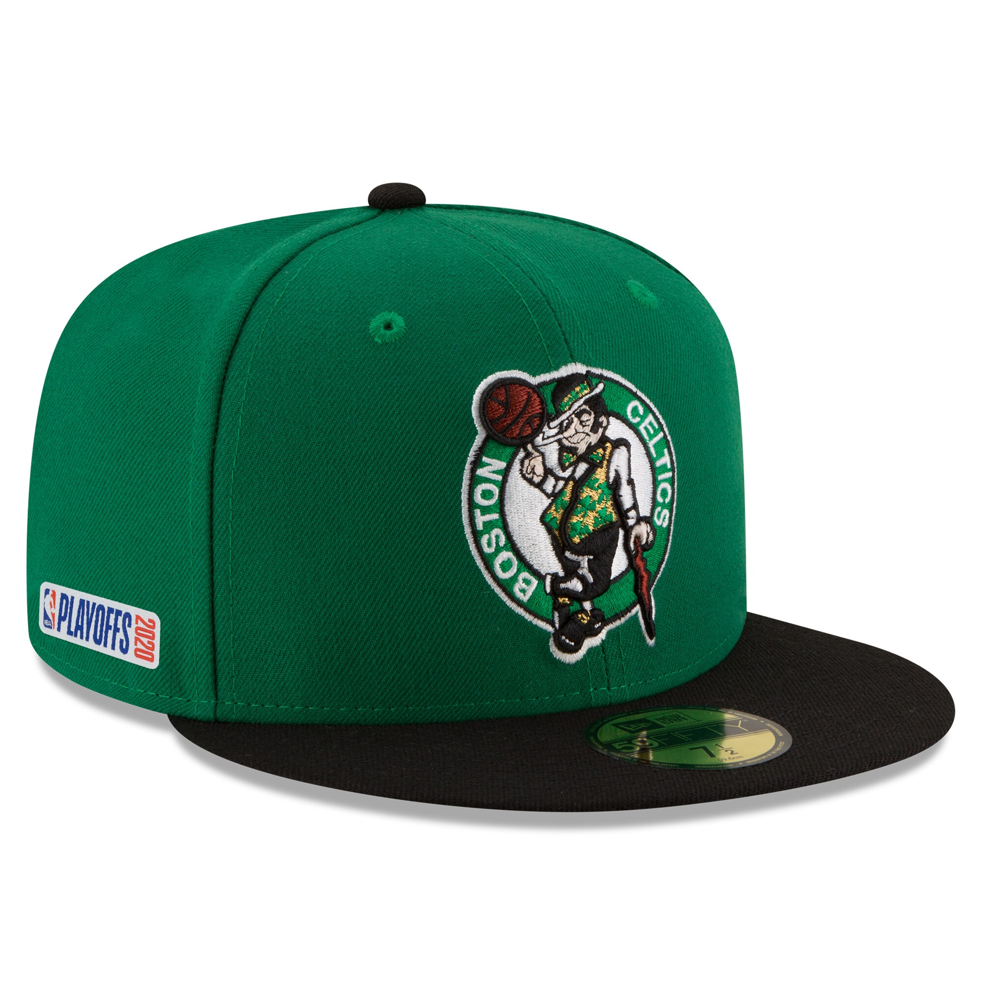 Boston Celtics New Era 2020 NBA Playoffs Bound 59FIFTY Fitted Hat - Green