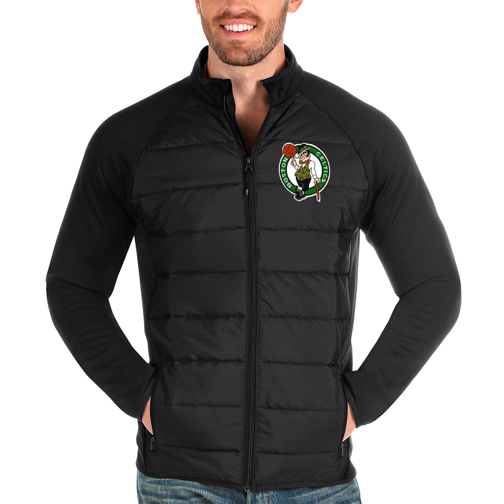 Boston Celtics Antigua Altitude Full-Zip Jacket - Black