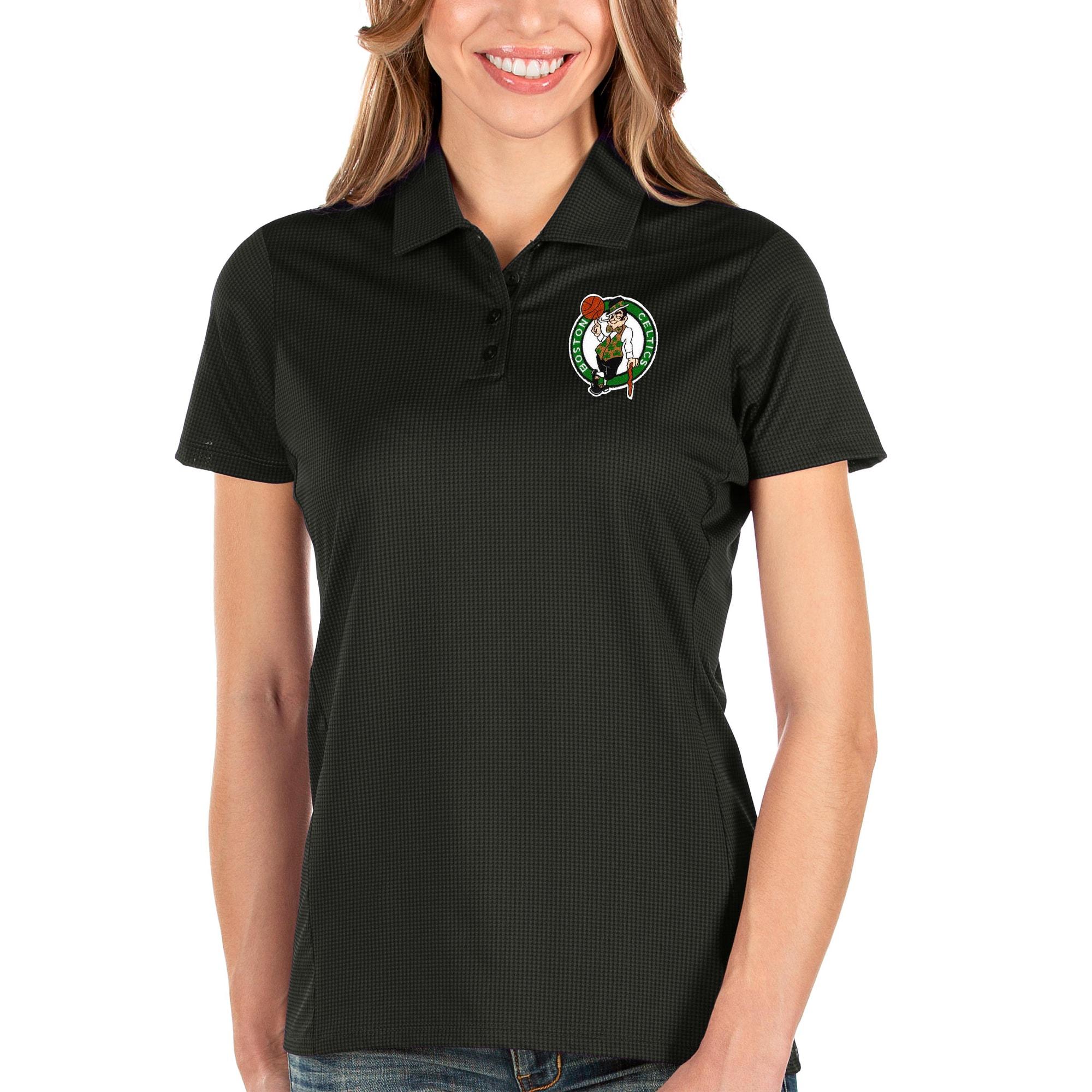 Boston Celtics Antigua Women's Balance Polo - Black