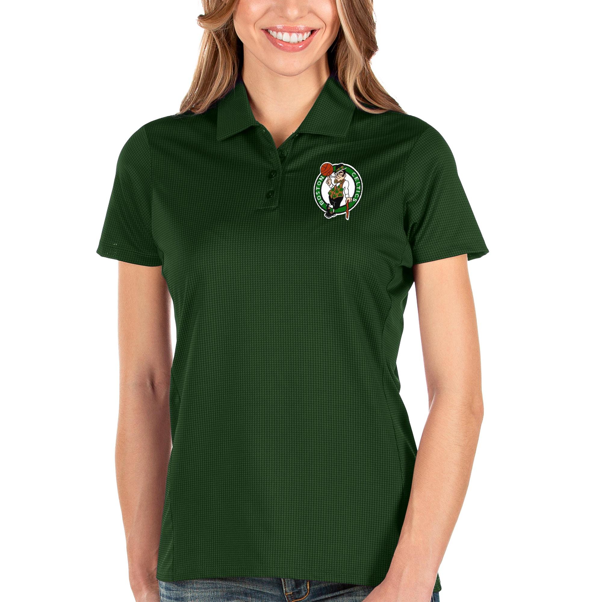 Boston Celtics Antigua Women's Balance Polo - Green
