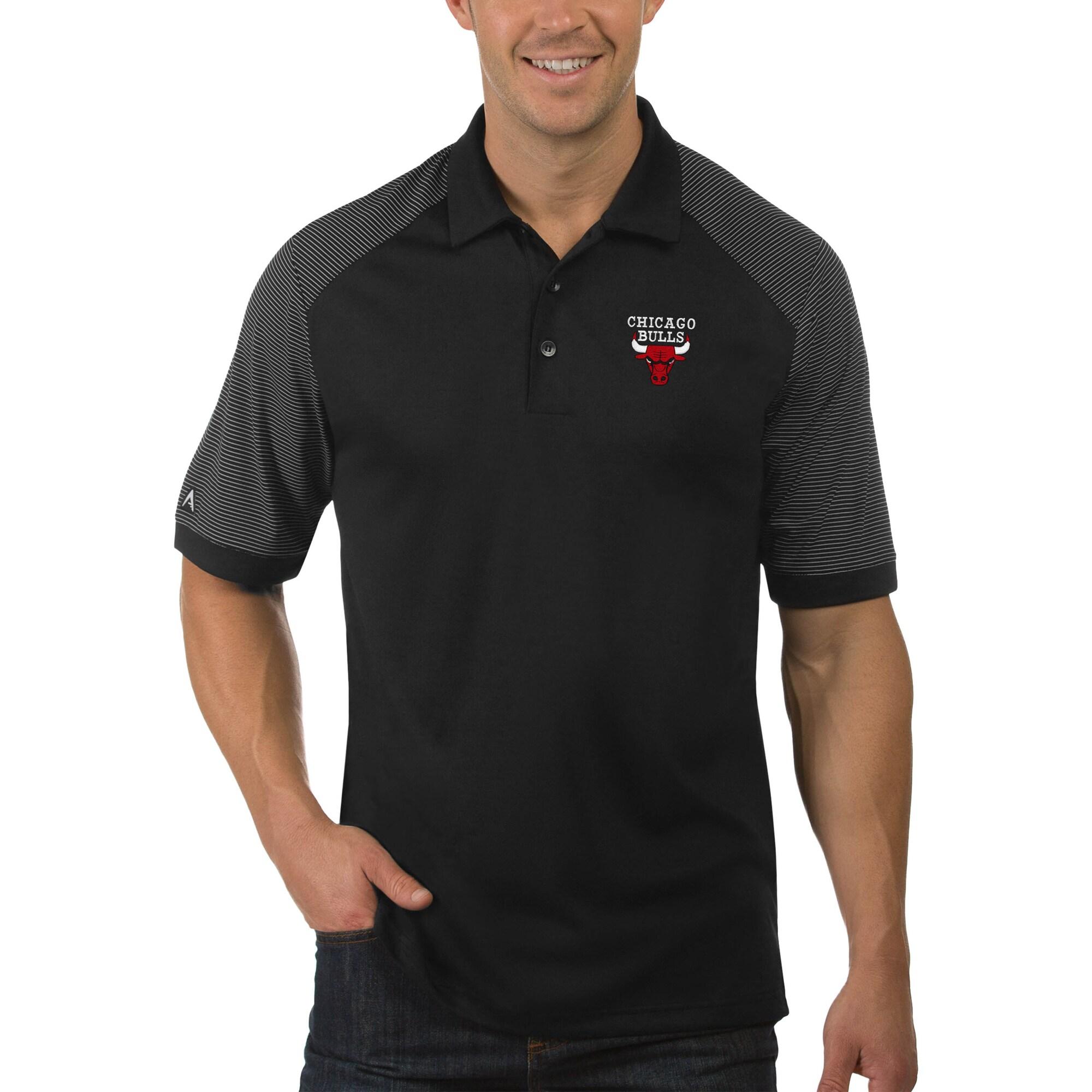 Chicago Bulls Antigua Engage Big & Tall Polo - Black